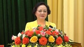 Bộ trưởng Bộ Nội vụ Phạm Thị Thanh Trà tiếp xúc cử tri huyện Mù Cang Chải