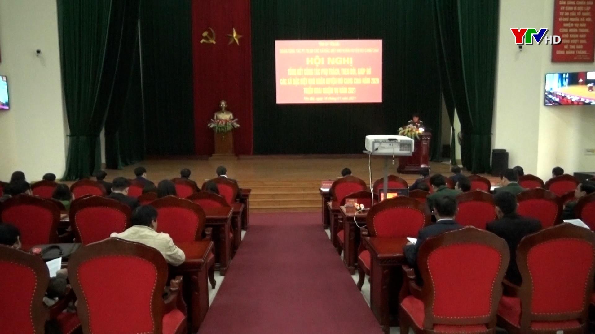 Hội nghị tổng kết công tác phụ trách, giúp đỡ các xã đặc biệt khó khăn của huyện Mù Cang Chải năm 2020
