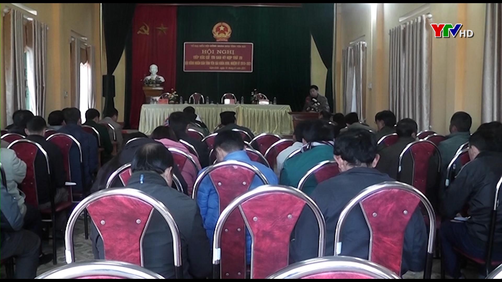Tổ đại biểu HĐND tỉnh tiếp xúc cử tri huyện Mù Cang Chải