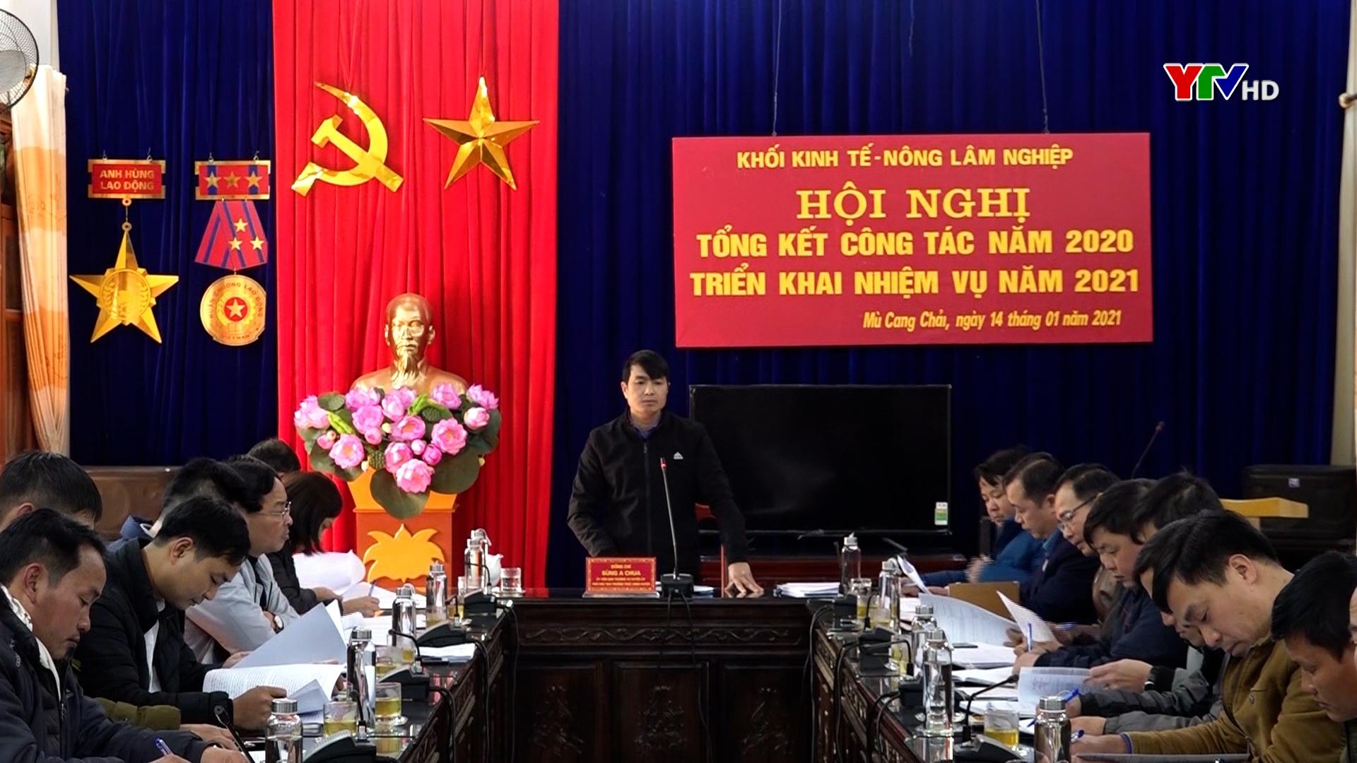 Huyện Mù Cang Chải triển khai nhiệm vụ phát triển kinh tế, nông lâm nghiệp năm 2021