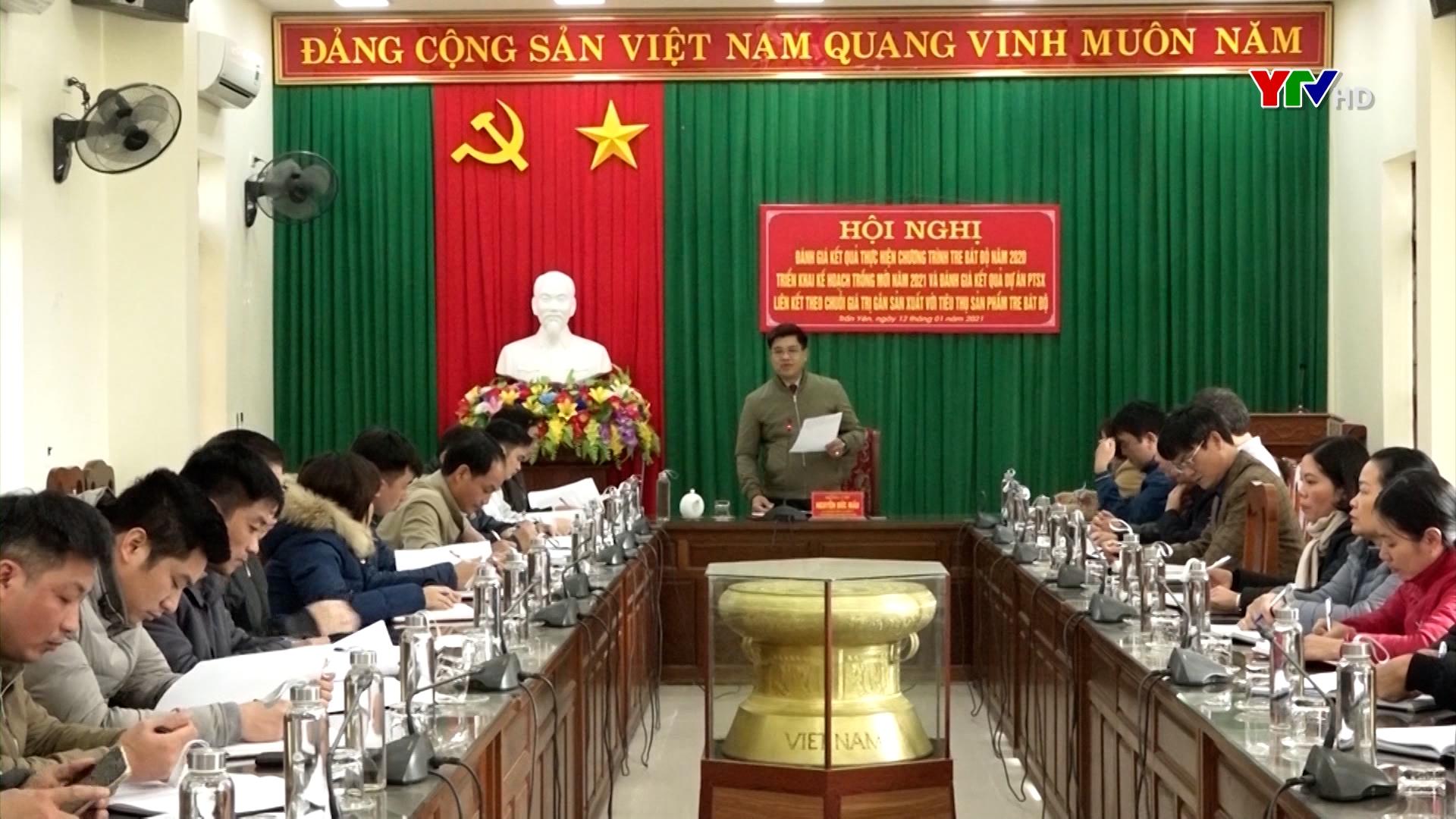 Huyện Trấn Yên triển khai chương trình tre măng Bát độ năm 2021