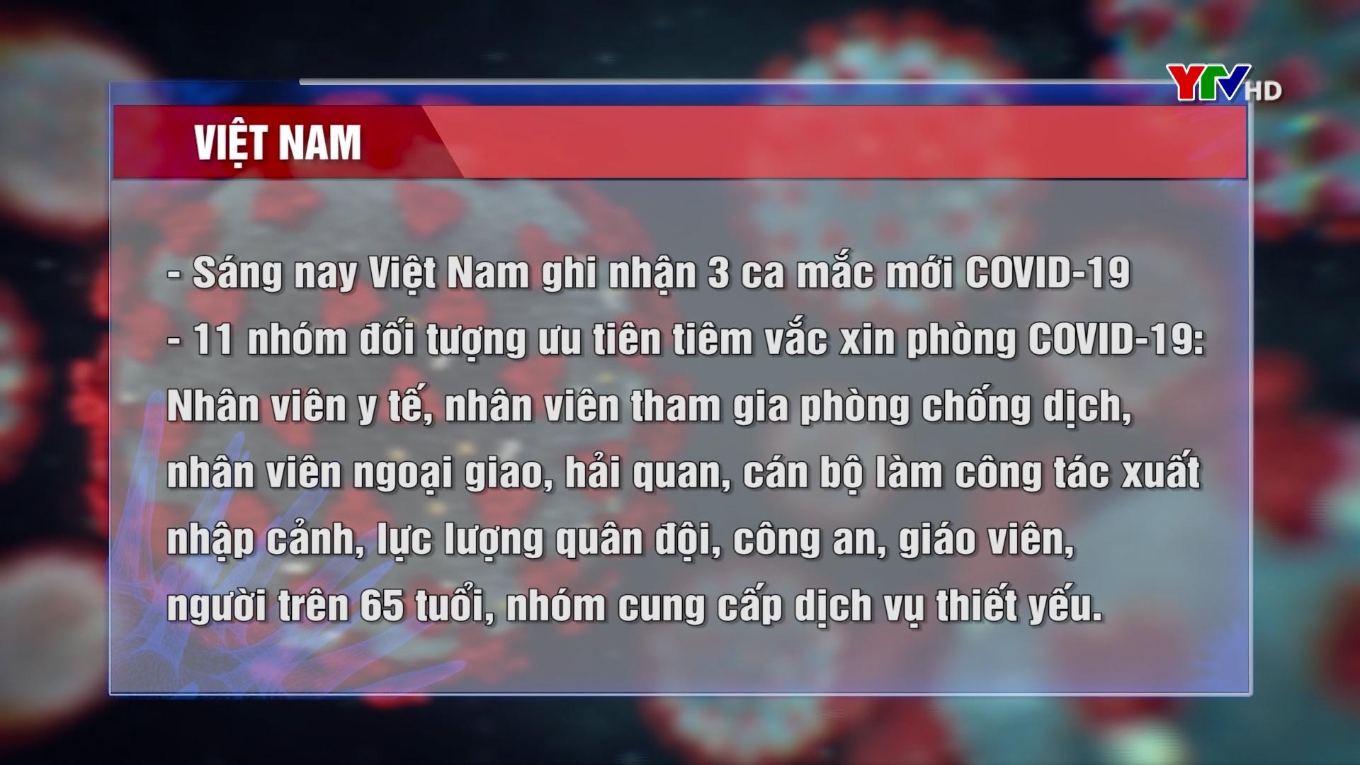 Sáng nay Việt Nam ghi nhận 3 ca mắc mới COVID - 19