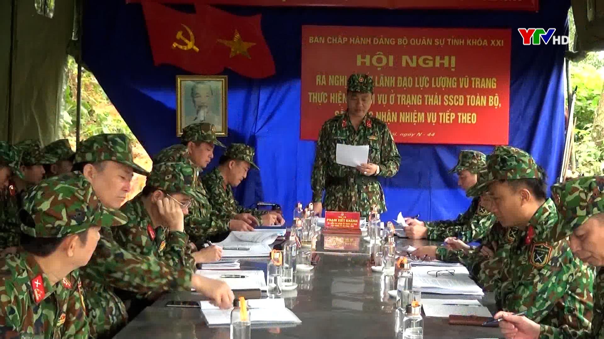 Bộ CHQS tỉnh huấn luyện, luyện tập chuyển trạng thái sẵn sàng chiến đấu năm 2021