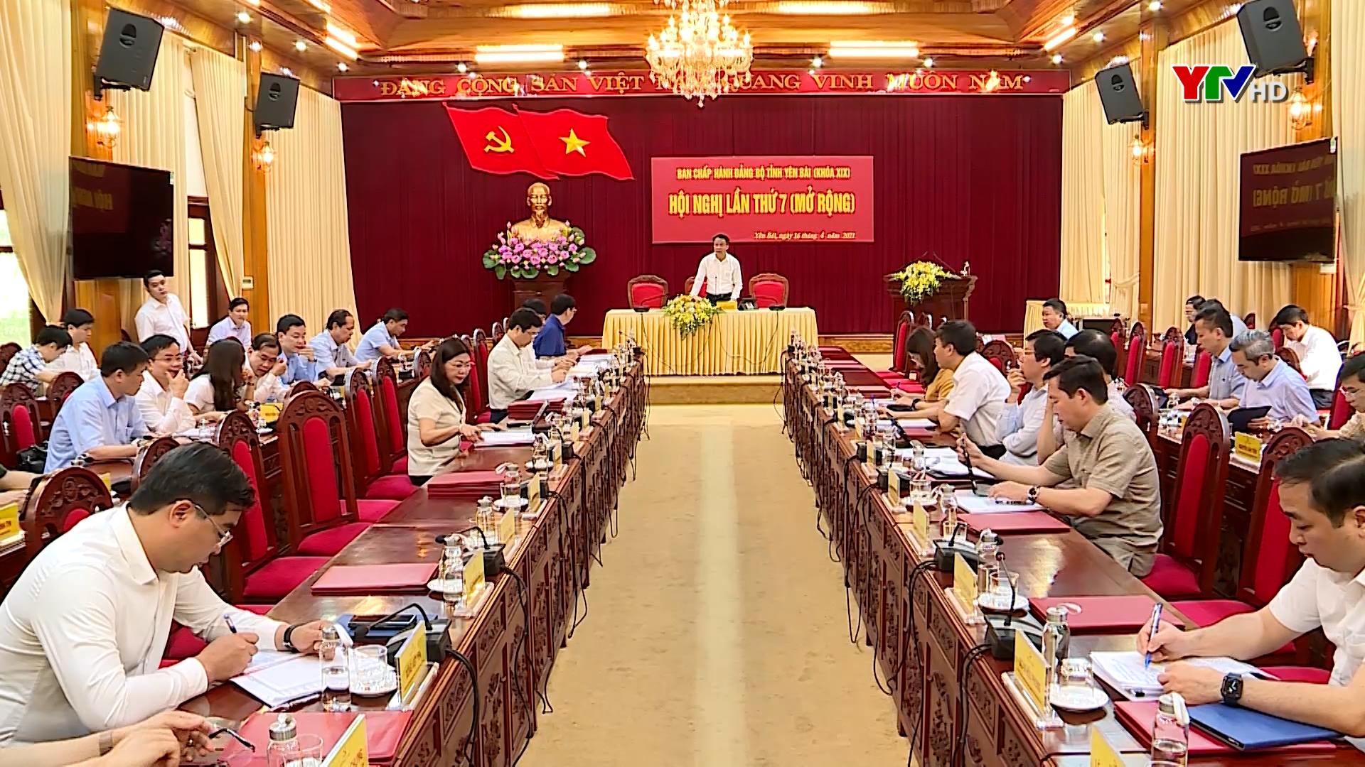 Hội nghị Ban Chấp hành Đảng bộ tỉnh lần thứ 7 thảo luận nhiều nội dung quan trọng