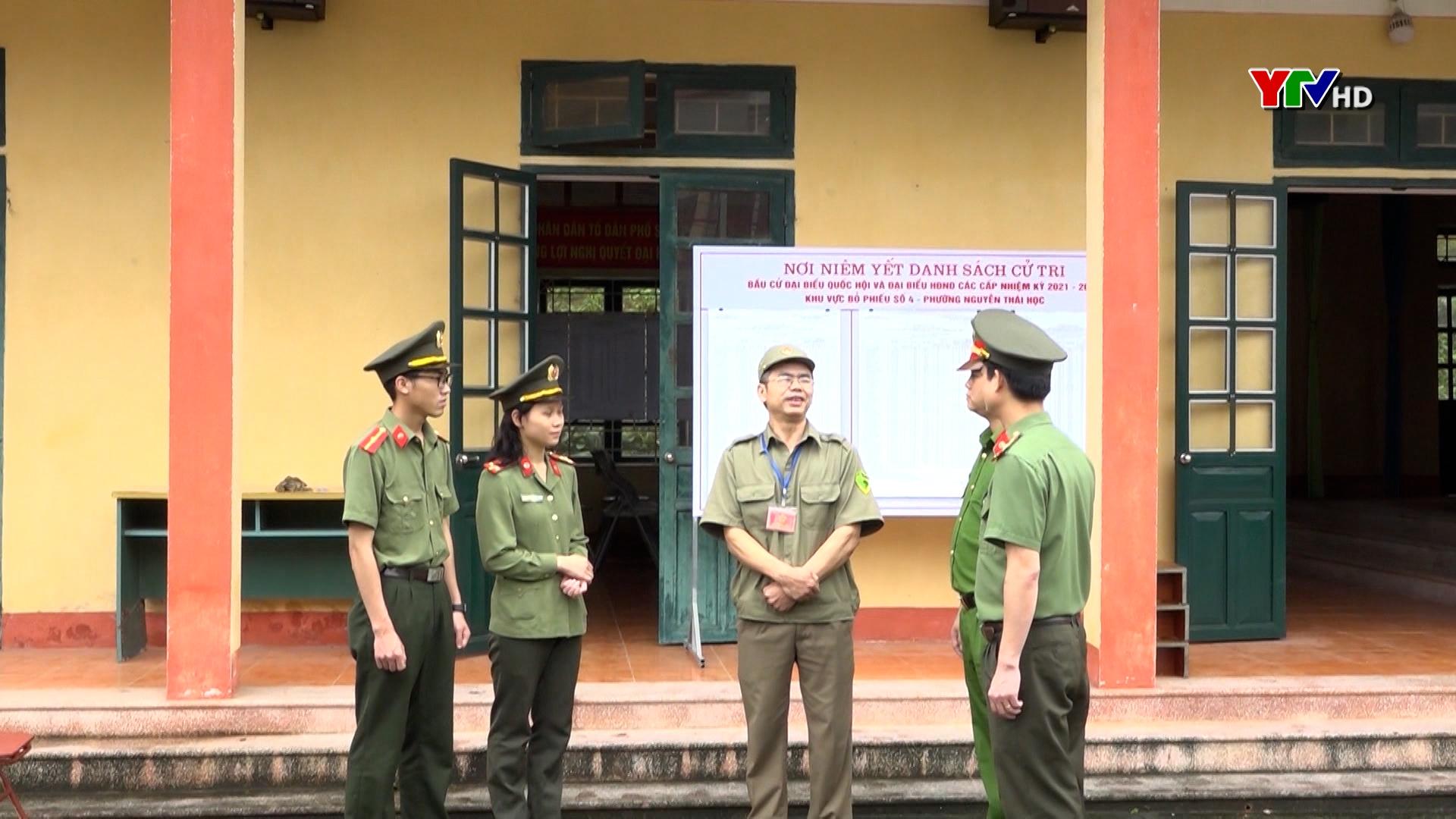 Công an TP Yên Bái đảm bảo an ninh trật tự cho cuộc bầu cử