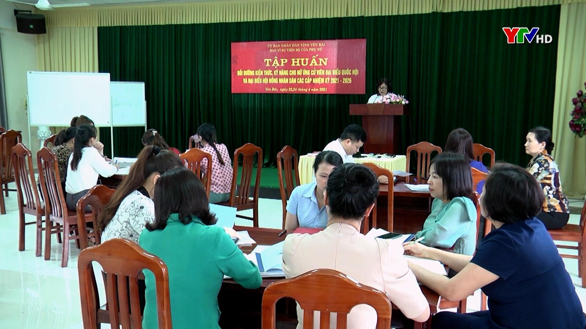Tập huấn bồi dưỡng kiến thức, kỹ năng cho nữ ứng cử viên ĐBQH và đại biểu HĐND các cấp
