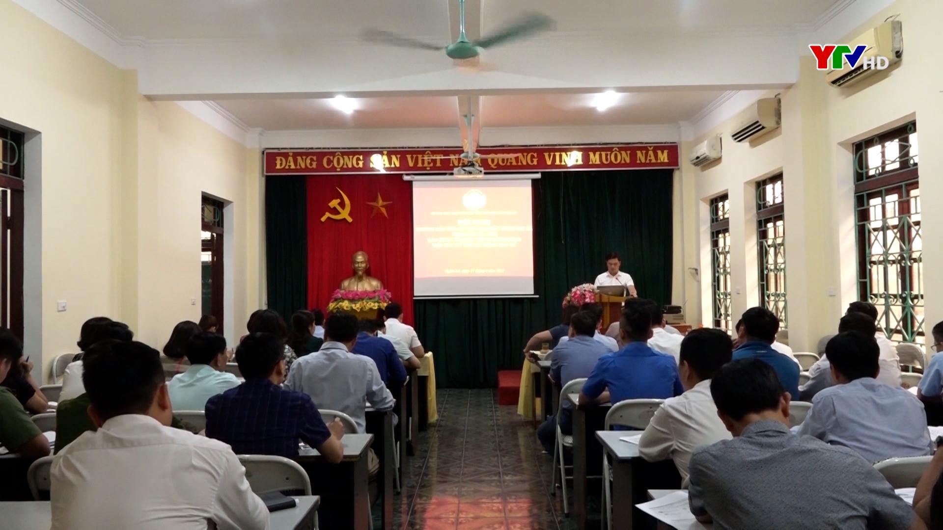 Ủy ban MTTQ thị xã Nghĩa Lộ hướng dẫn xây dựng chương trình hành động cho 48 ứng cử viên đại biểu HĐND