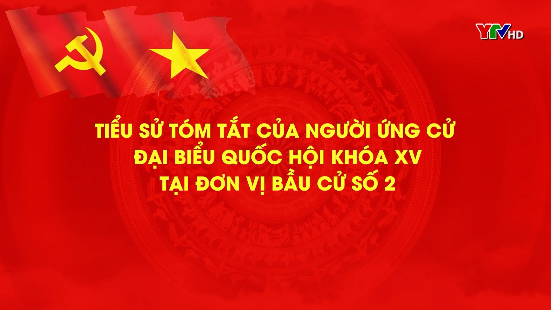 Danh sách các ứng cử viên Đại biểu Quốc hội khóa XV ( Đơn vị Bầu cử số 2) - Tiếng Mông