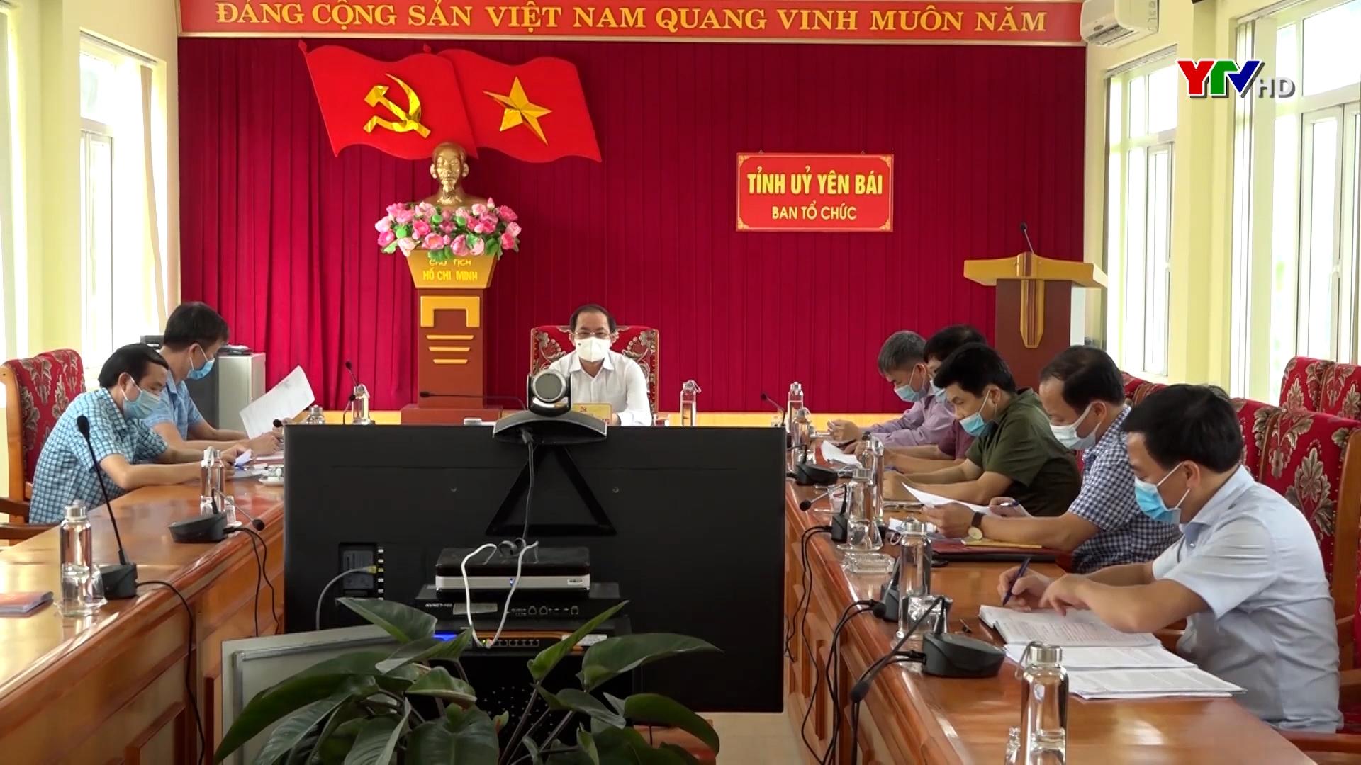 Yên Bái dự Hội nghị trực tuyến lấy ý kiến góp ý vào các dự thảo báo cáo, tờ trình, quy định thi hành Điều lệ Đảng