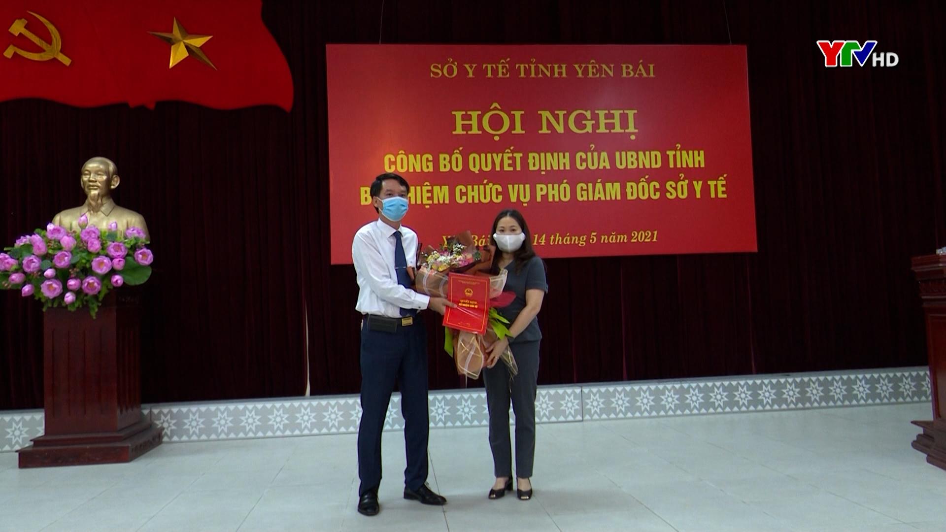 Thạc sỹ, bác sỹ Nguyễn Văn Hà - Giám đốc Trung tâm Kiểm soát bệnh tật tỉnh giữ chức Phó Giám đốc Sở Y tế tỉnh Yên Bái