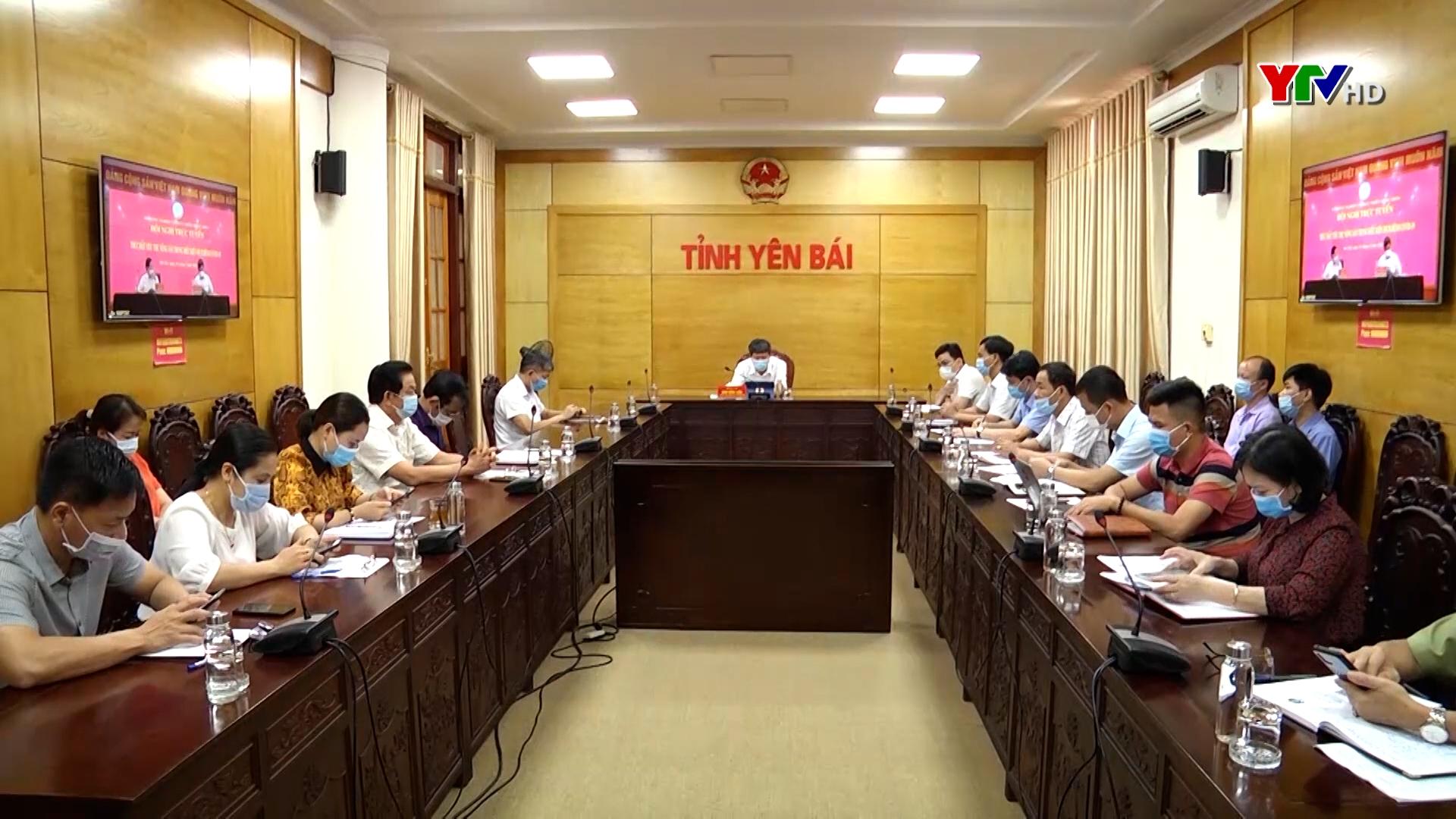 Tỉnh Yên Bái dự Hội nghị trực tuyến thúc đẩy tiêu thụ nông sản trong điều kiện dịch COVID-19