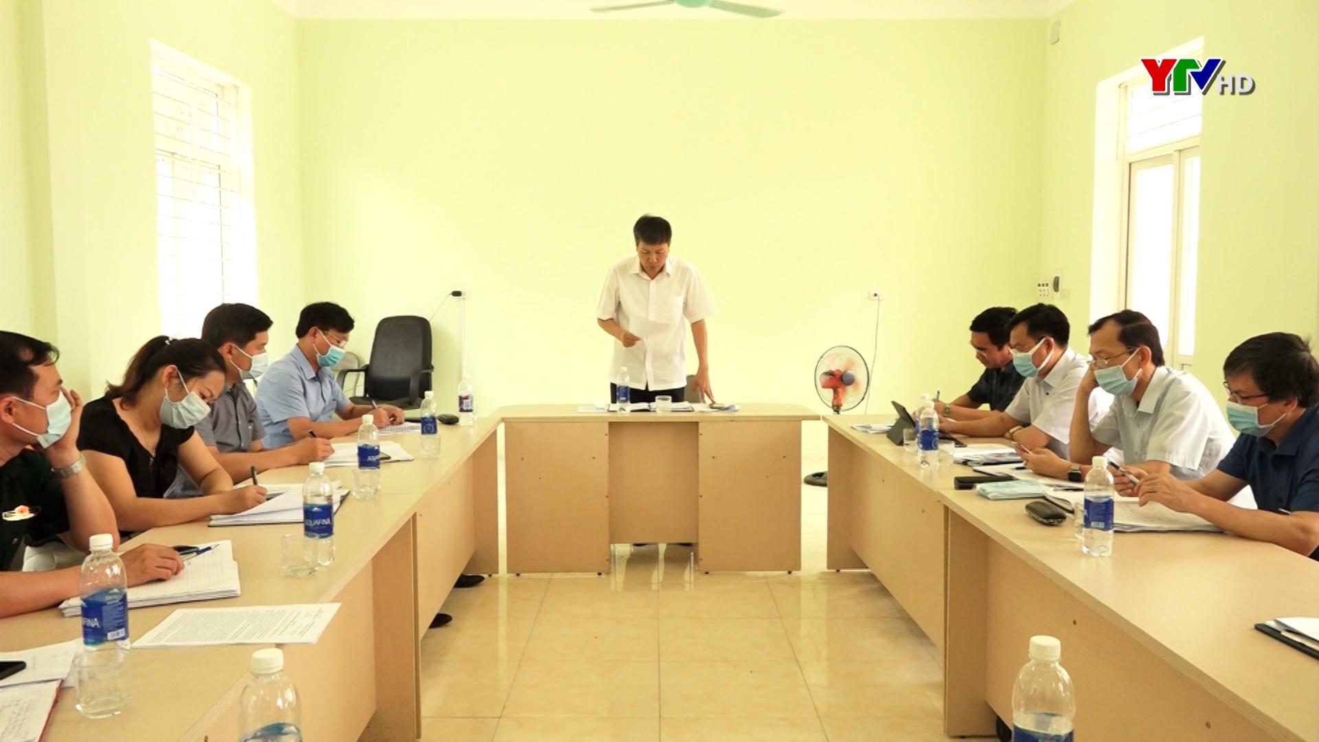Kiểm tra công tác phòng, chống thiên tai và tìm kiếm cứu nạn tại huyện Lục Yên