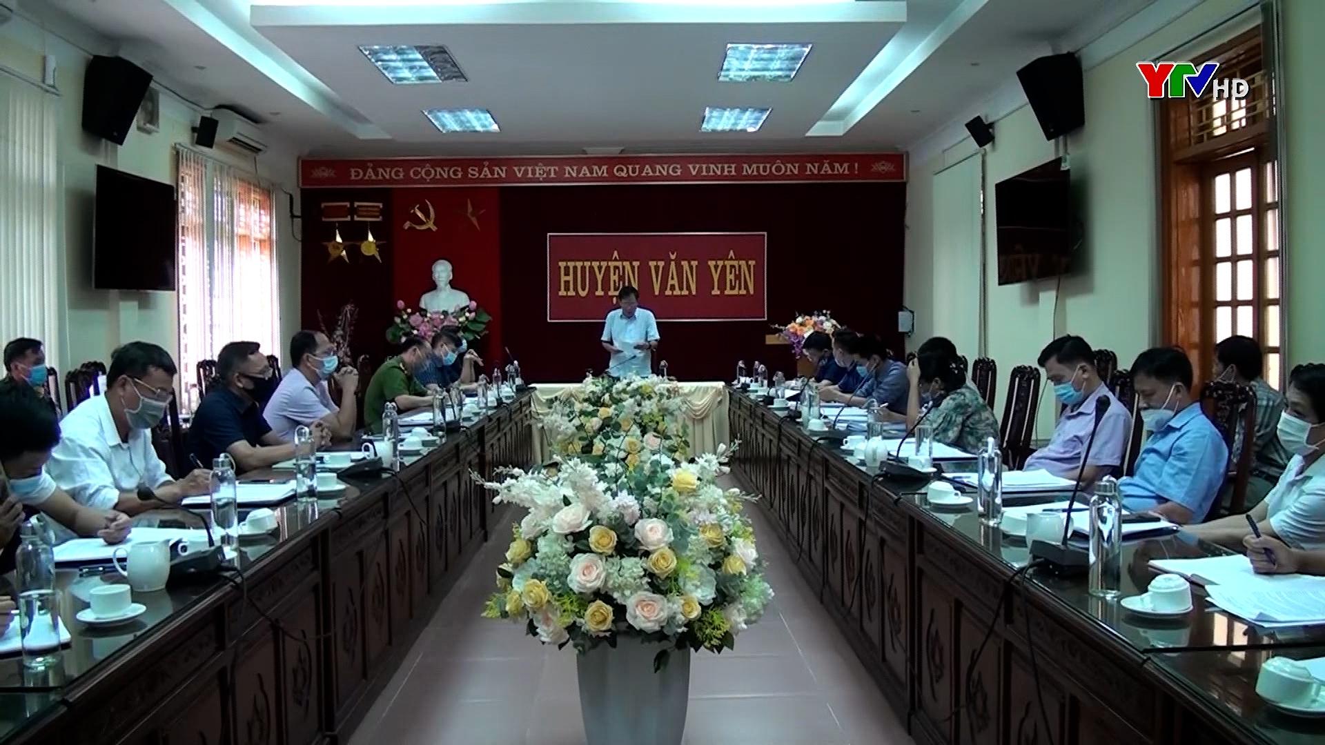Kiểm tra công tác phòng chống thiên tai và tìm kiếm cứu nạn tại huyện Văn  Yên