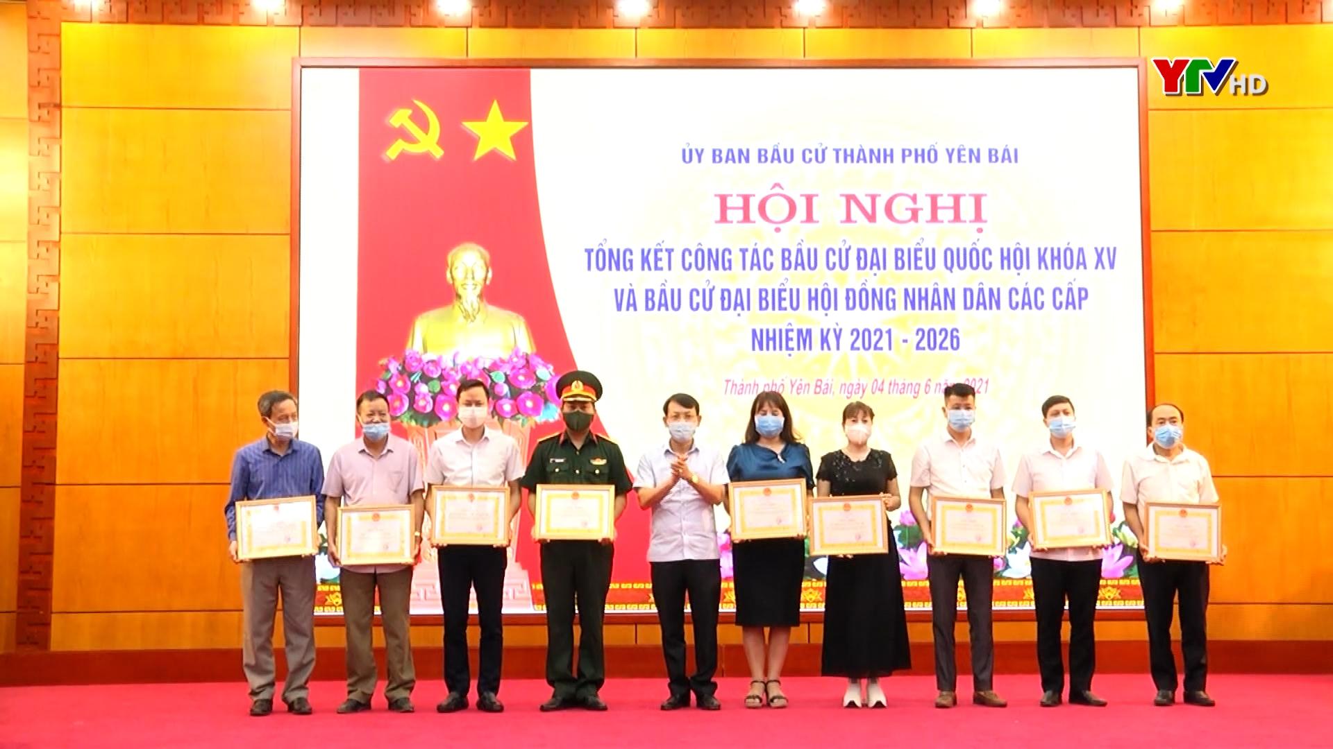 Uỷ ban Bầu cử thành phố Yên Bái tổng kết công tác bầu cử đại biểu Quốc hội khoá XV và đại biểu HĐND các cấp