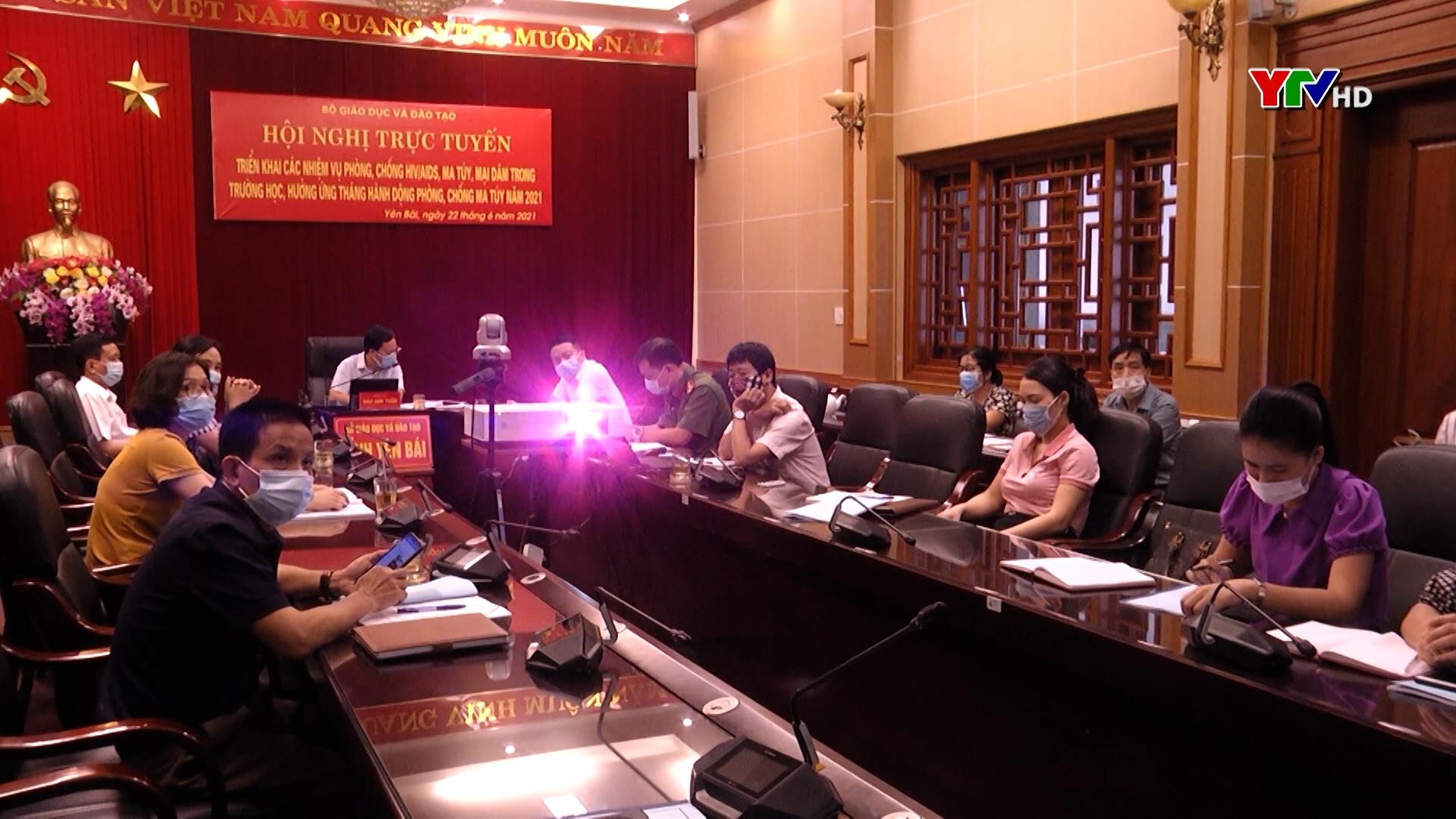 Tỉnh Yên Bái dự Hội nghị trực tuyến triển khai các nhiệm vụ phòng, chống HIV/AIDS, ma túy, mại dâm trong trường học