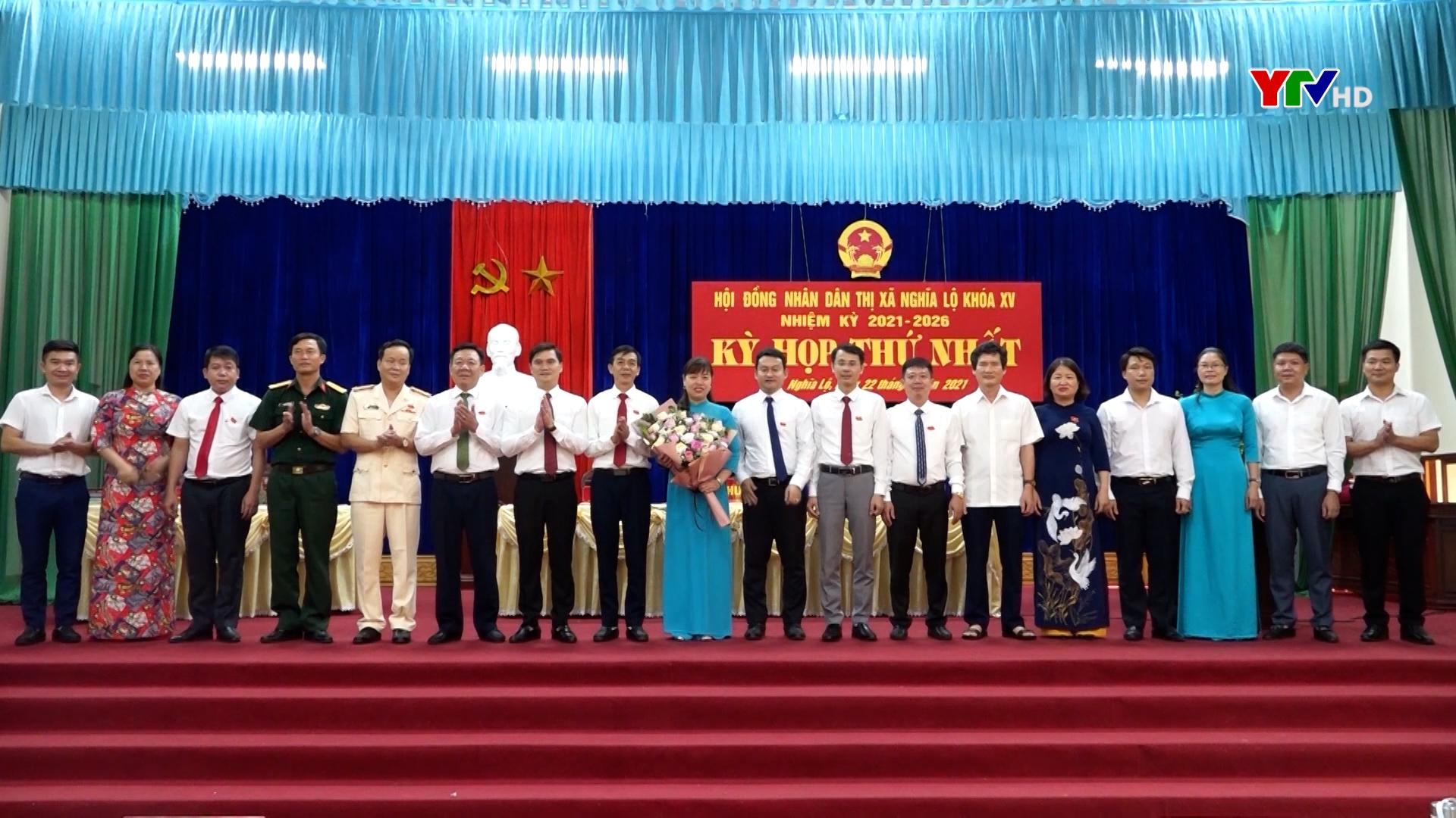 HĐND thị xã Nghĩa Lộ và huyện Trấn Yên, nhiệm kỳ 2021 - 2026 tổ chức kỳ họp thứ nhất