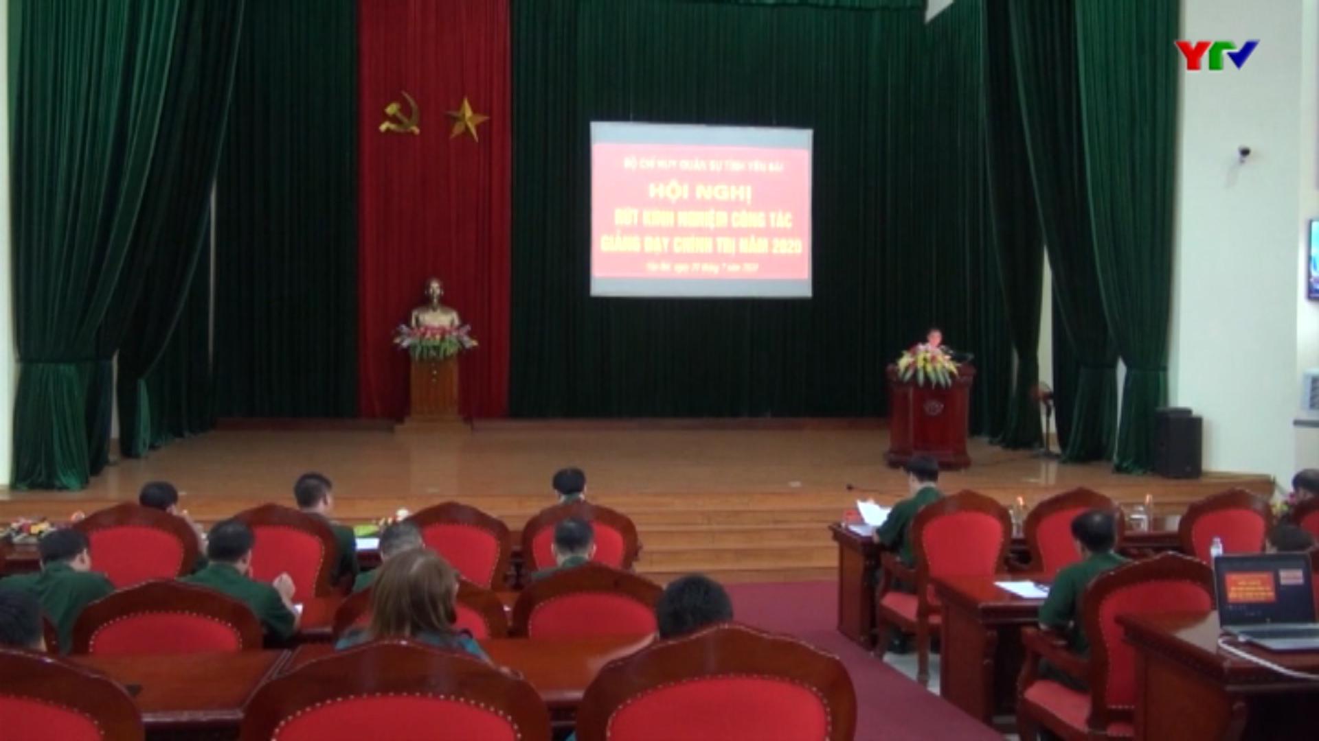 Bộ CHQS tỉnh rút kinh nghiệm công tác giáo dục và giảng dạy chính trị năm 2020