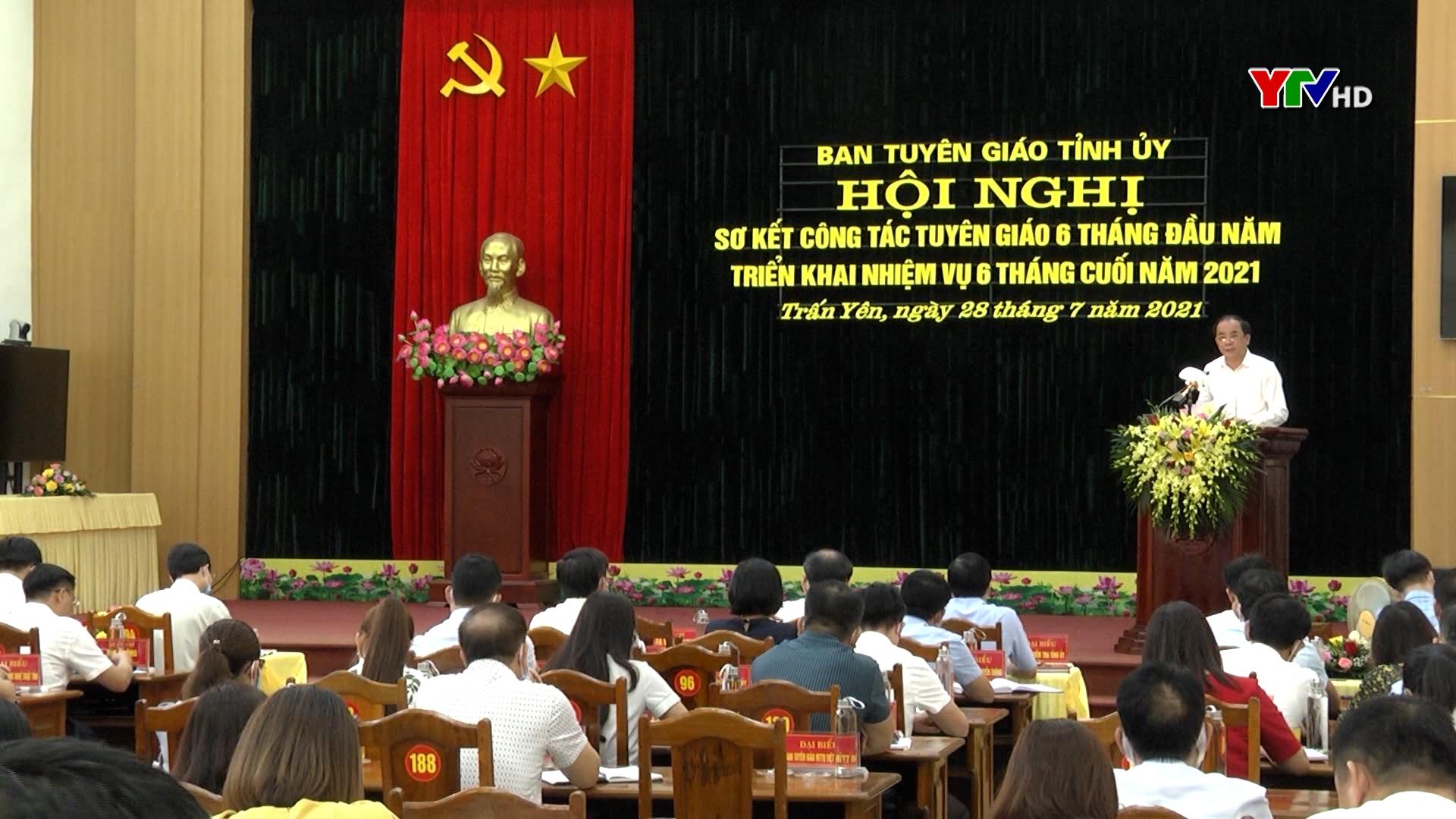 Hội nghị triển khai nhiệm vụ công tác tuyên giáo những tháng cuối năm 2021
