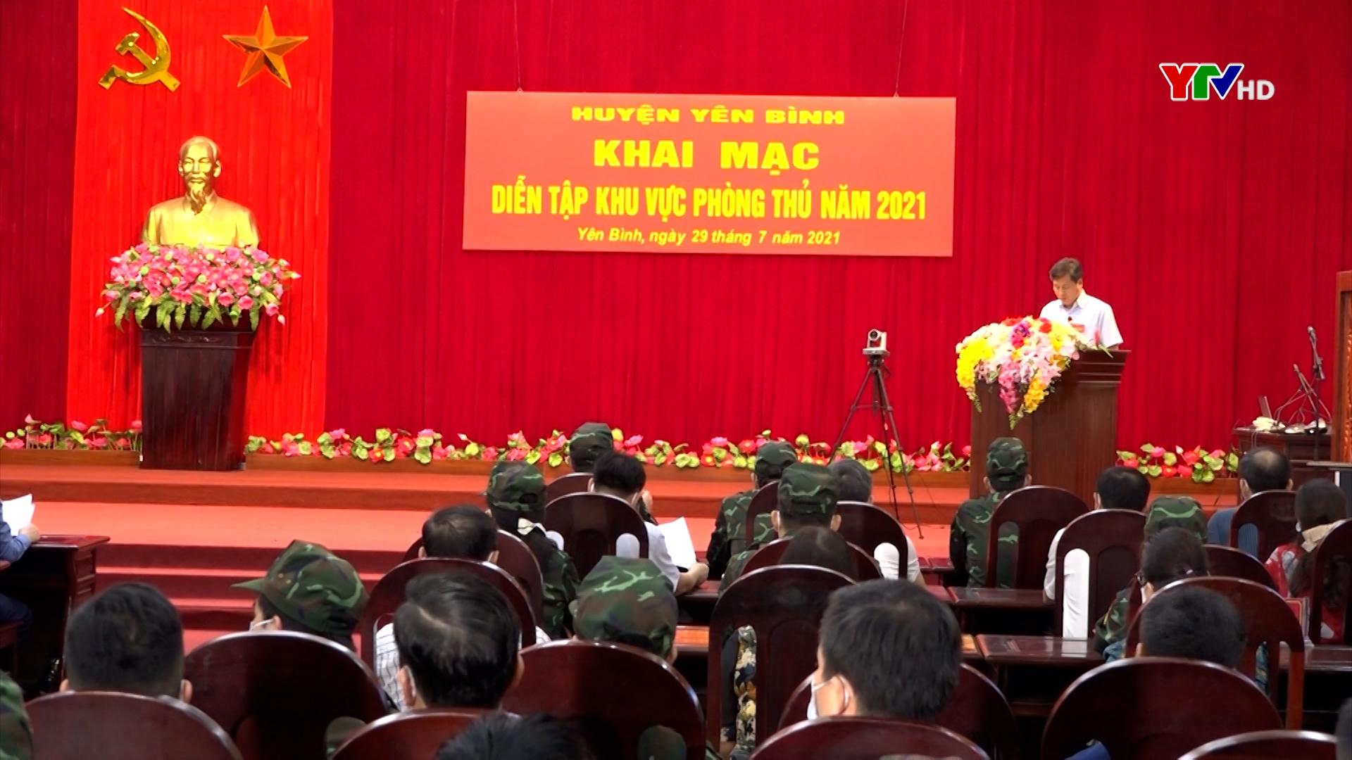 Khai mạc diễn tập khu vực phòng thủ huyện Yên Bình năm 2021