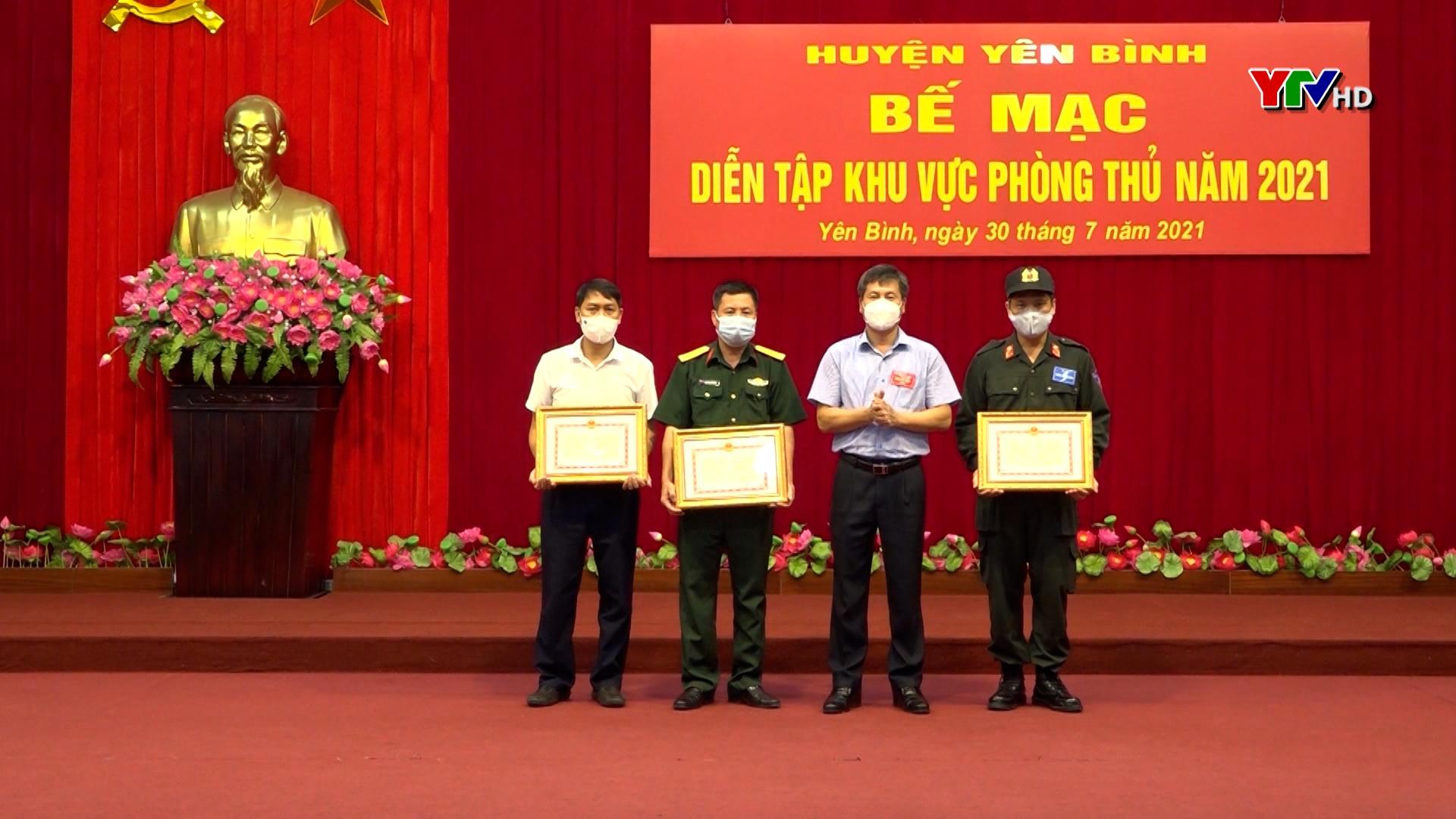 Huyện Yên Bình hoàn thành diễn tập khu vực phòng thủ năm 2021