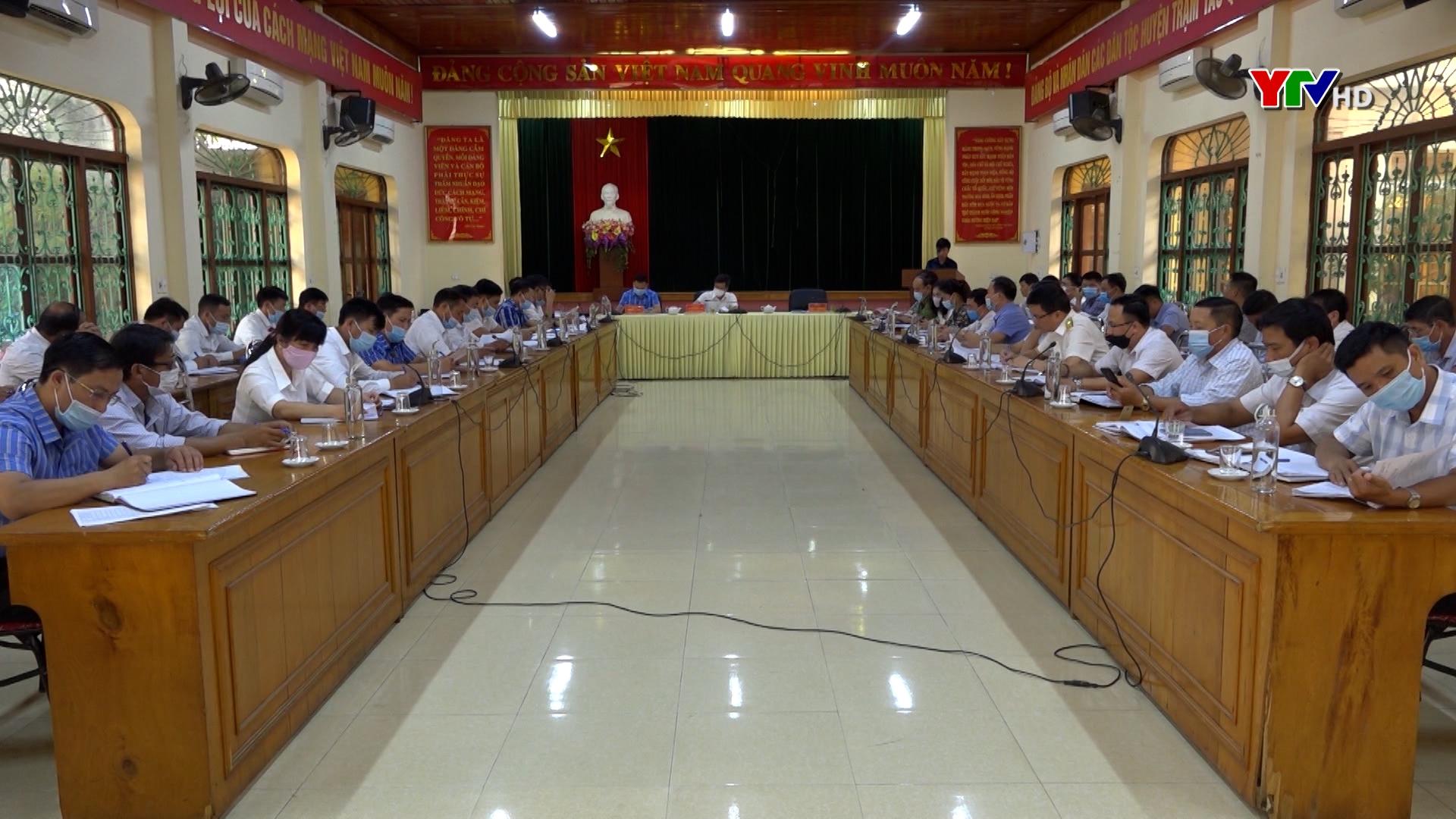 UBND huyện Trạm Tấu triển khai nhiệm vụ những tháng cuối năm 2021