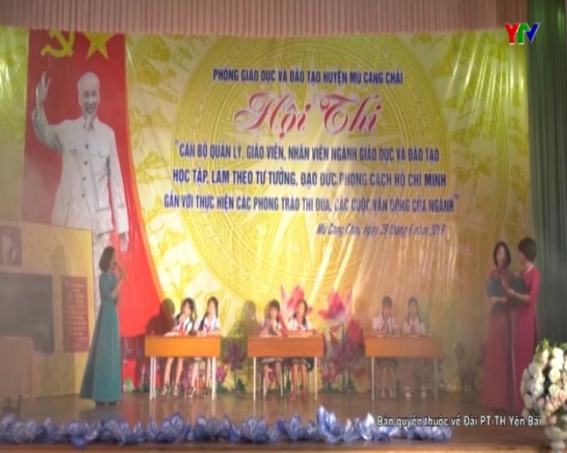 """Hội thi """"Cán bộ quản lý, giáo viên, nhân viên ngành GD&ĐT học tập, làm theo tư tưởng đạo đức, phong cách Hồ Chí Minh"""