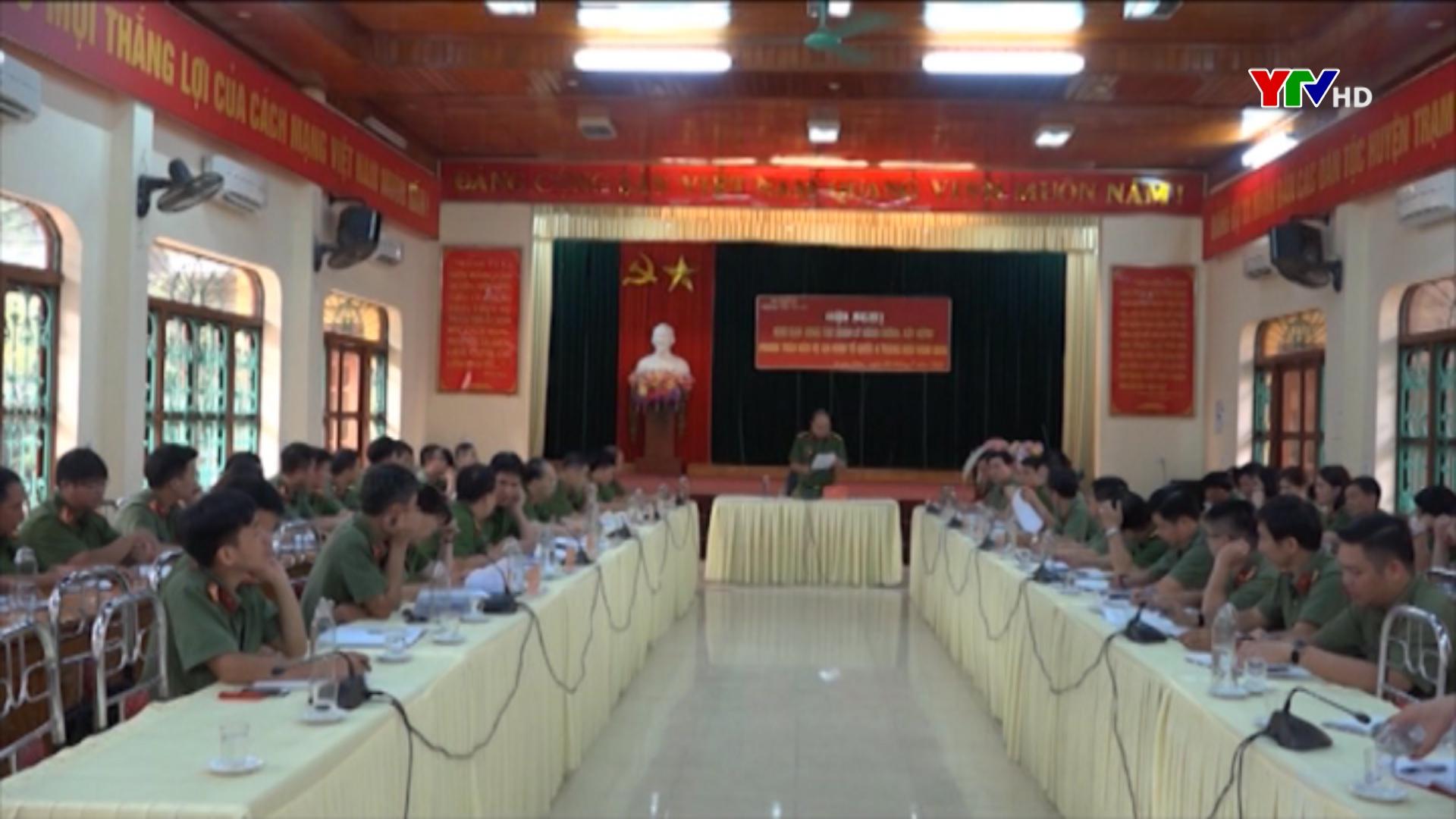 Hội nghị triển khai công tác quản lý hành chính xây dựng phong trào bảo vệ ANTQ 6 tháng cuối năm 2020