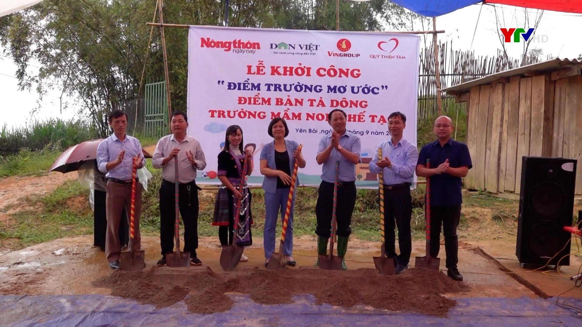 Khởi công điểm trường Mầm non Tà Dông xã Chế Tạo, huyện Mù Cang Chải