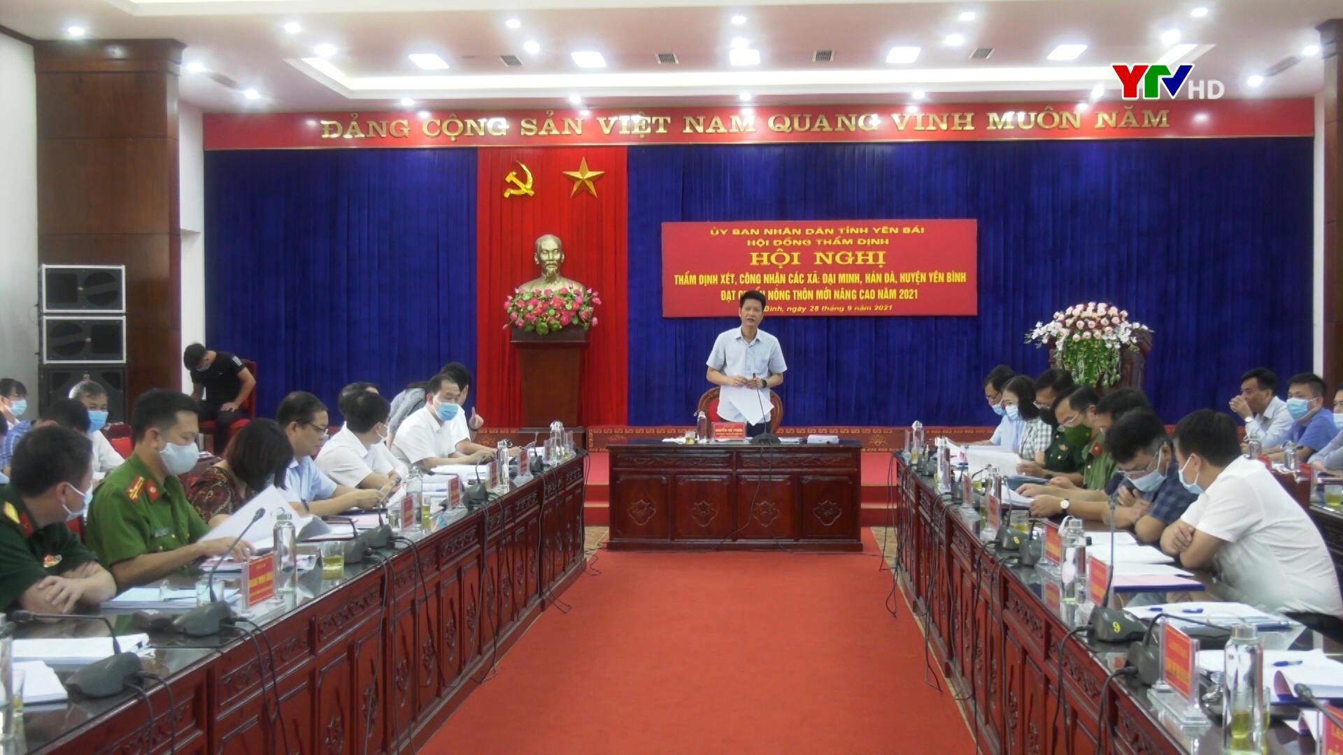 Thẩm định xét công nhận xã Đại Minh và Hán Đà, huyện Yên Bình đạt chuẩn nông thôn mới nâng cao