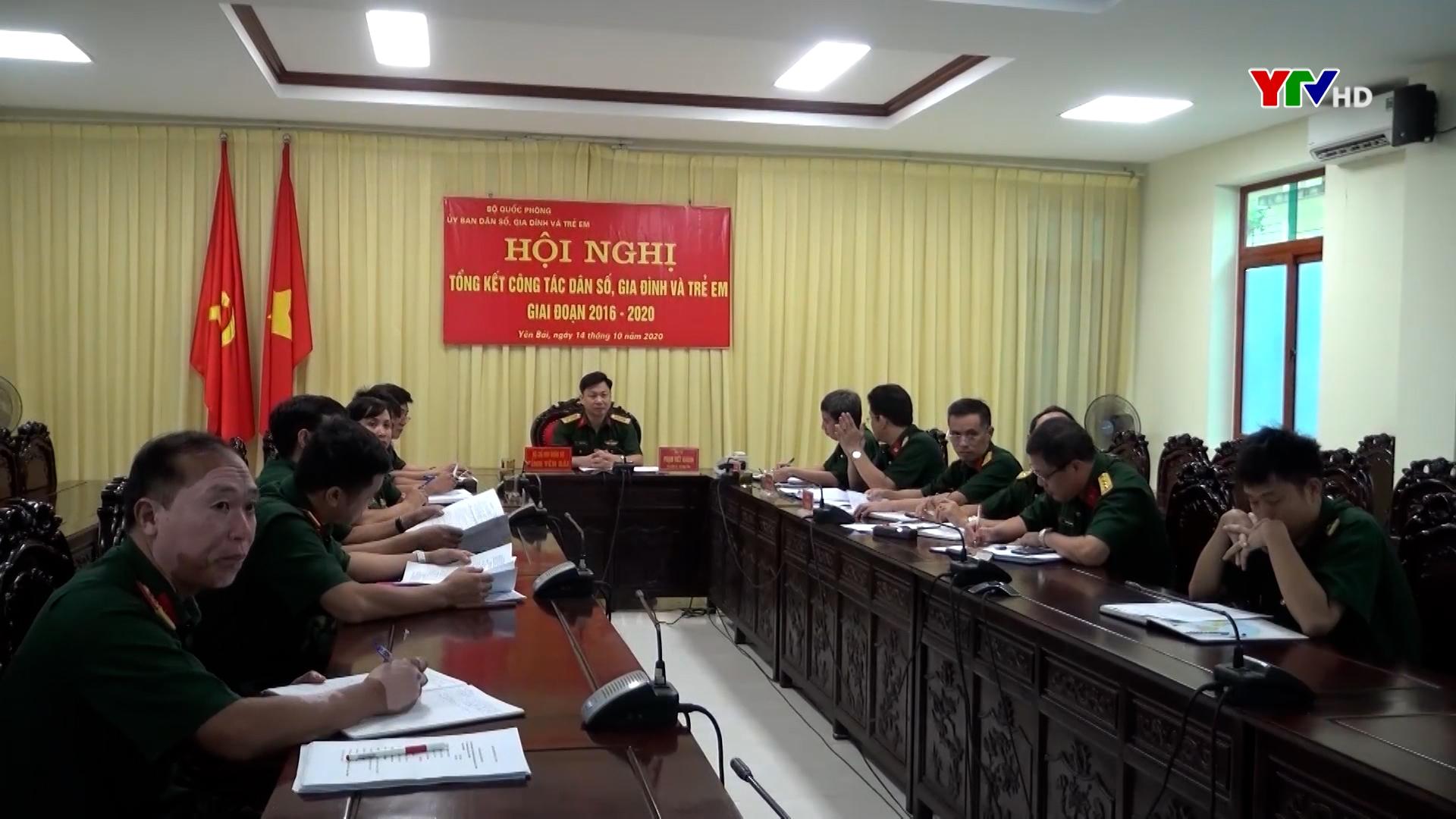 Bộ CHQS tỉnh Yên Bái tham dự Hội nghị trực tuyến tổng kết công tác dân số, gia đình và trẻ em
