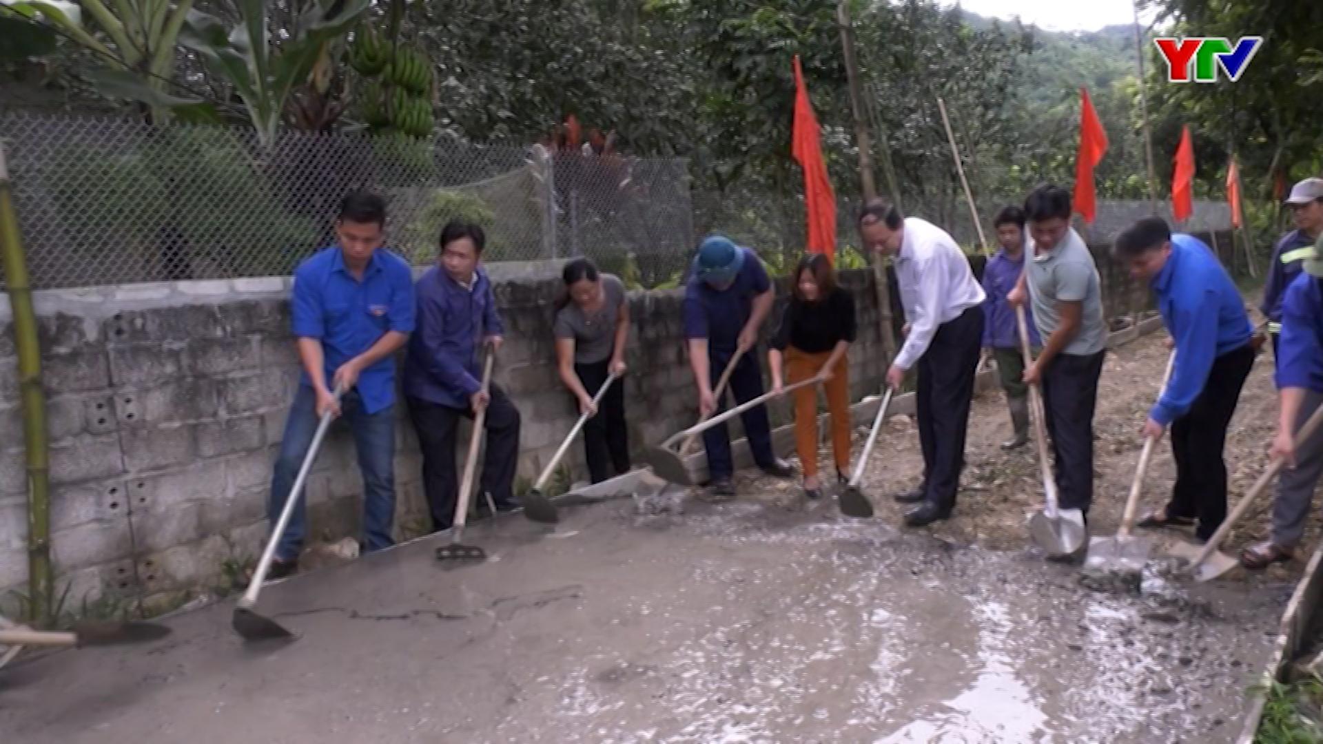 Huyện Yên Bình ra quân kiên cố hoá đường giao thông nông thôn