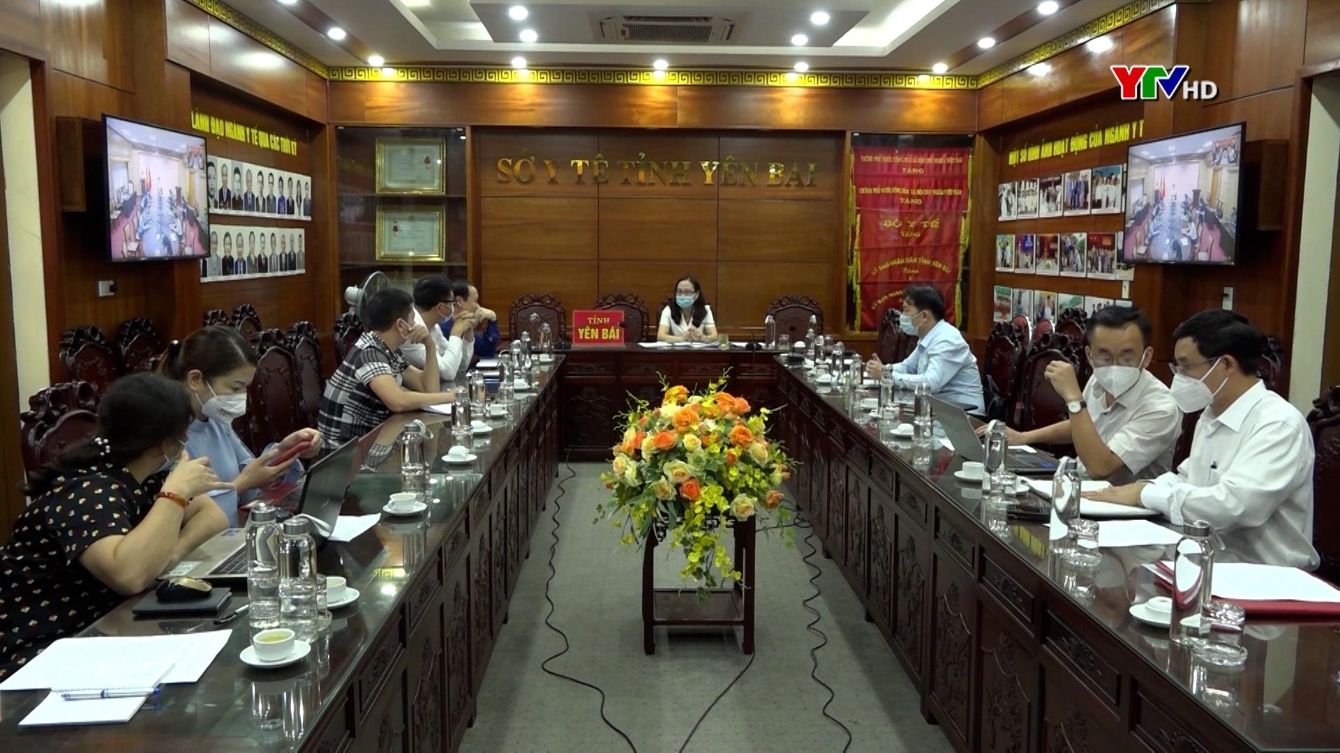 Tỉnh Yên Bái dự Hội nghị trực tuyến đánh giá tiến độ tiêm vaccine phòng COVID-19