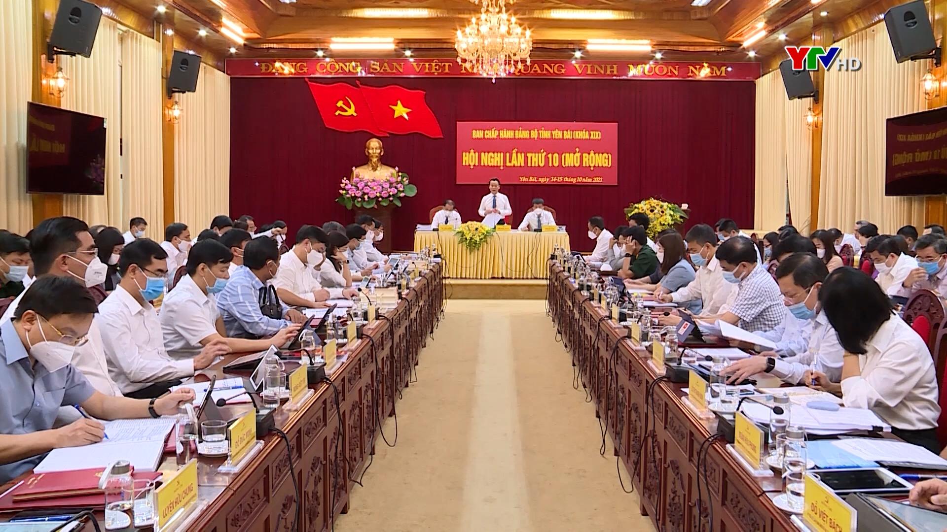 Hội nghị Ban Chấp hành Đảng bộ tỉnh lần thứ 10 (mở rộng): Tập trung thảo luận nhiều nội dung quan trọng