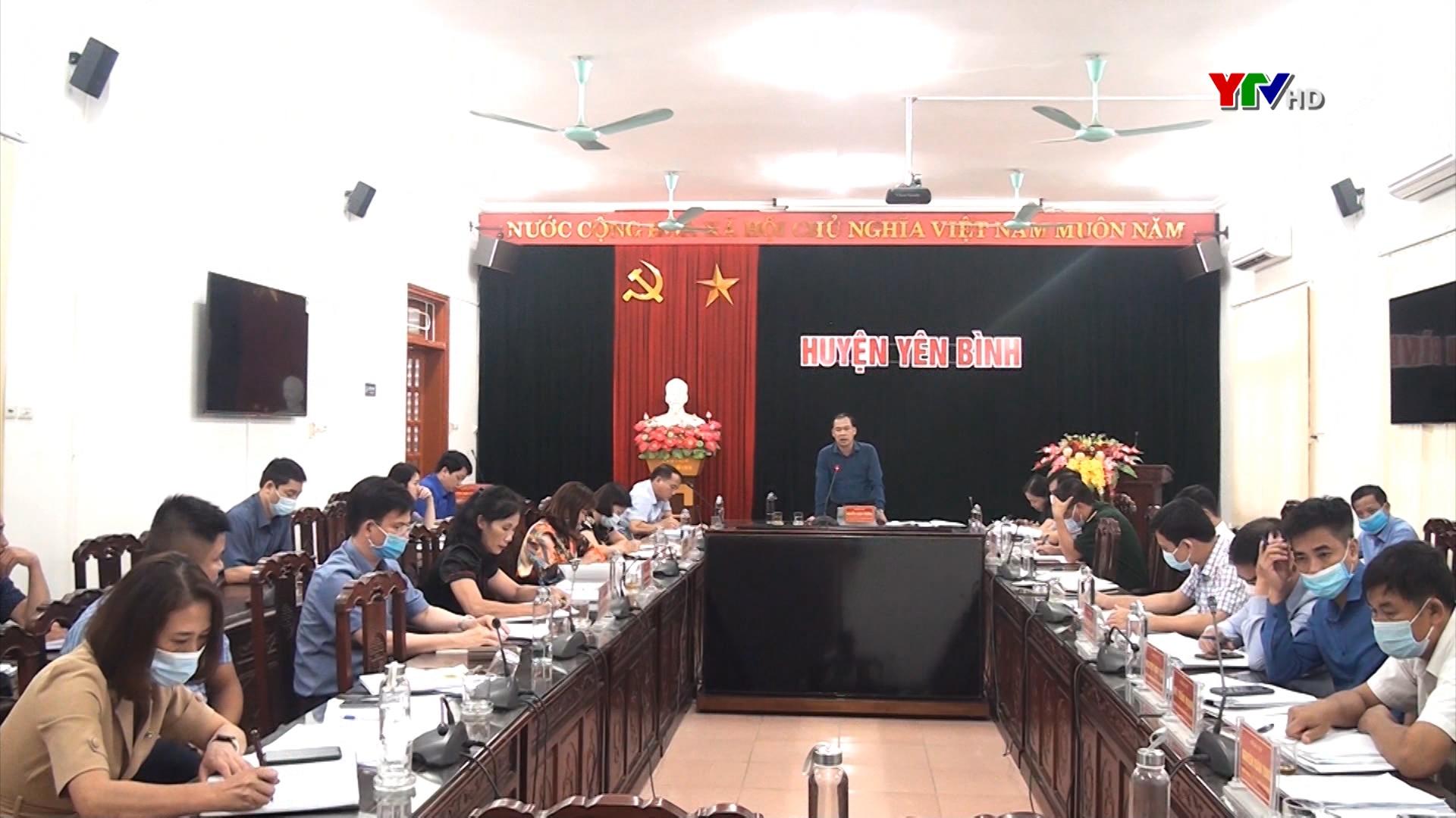UBND huyện Yên Bình triển khai nhiệm vụ những tháng cuối năm 2021