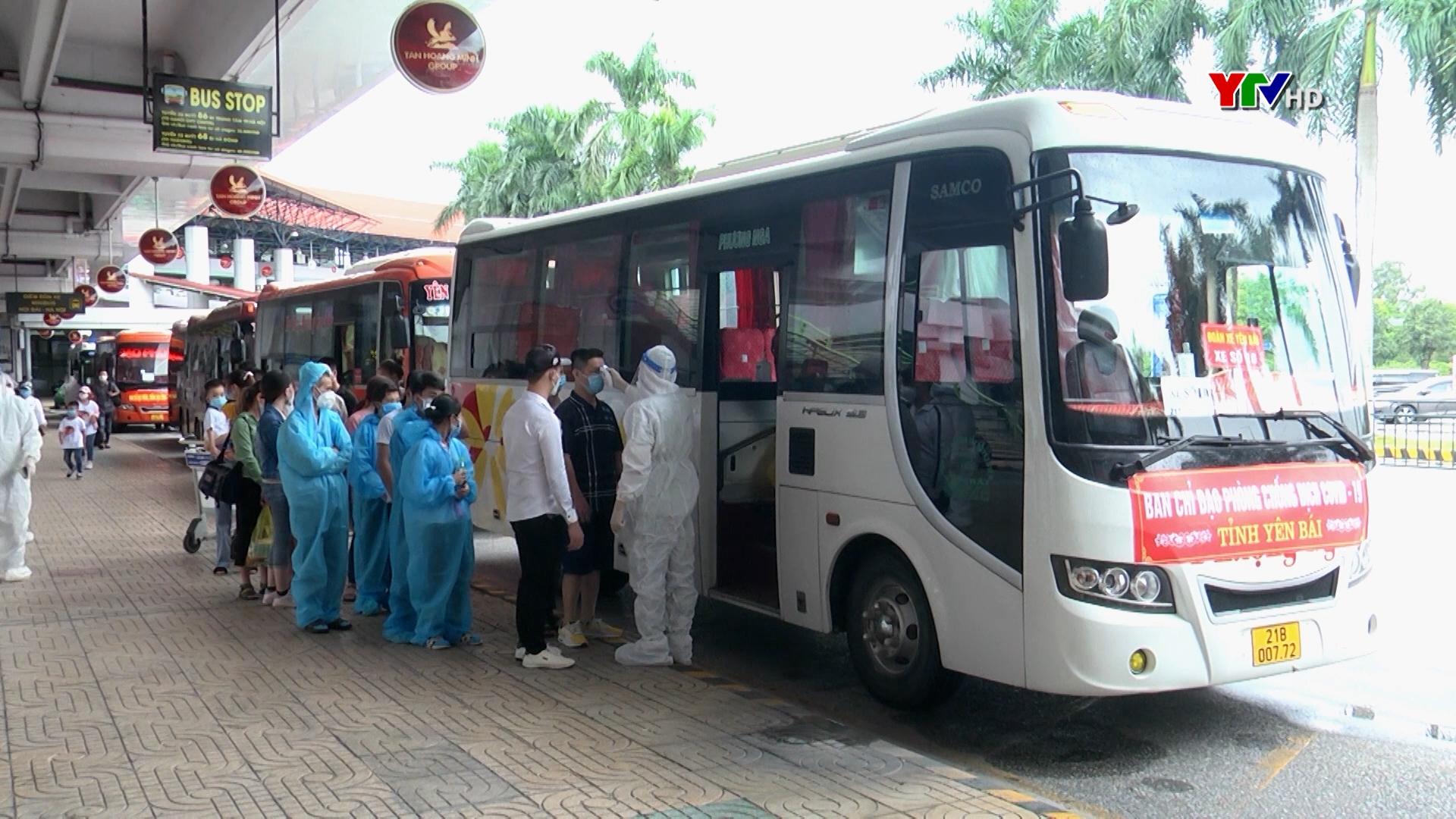 Yên Bái đón 490 công dân tại TP Hồ Chí Minh và các tỉnh phía Nam về quê