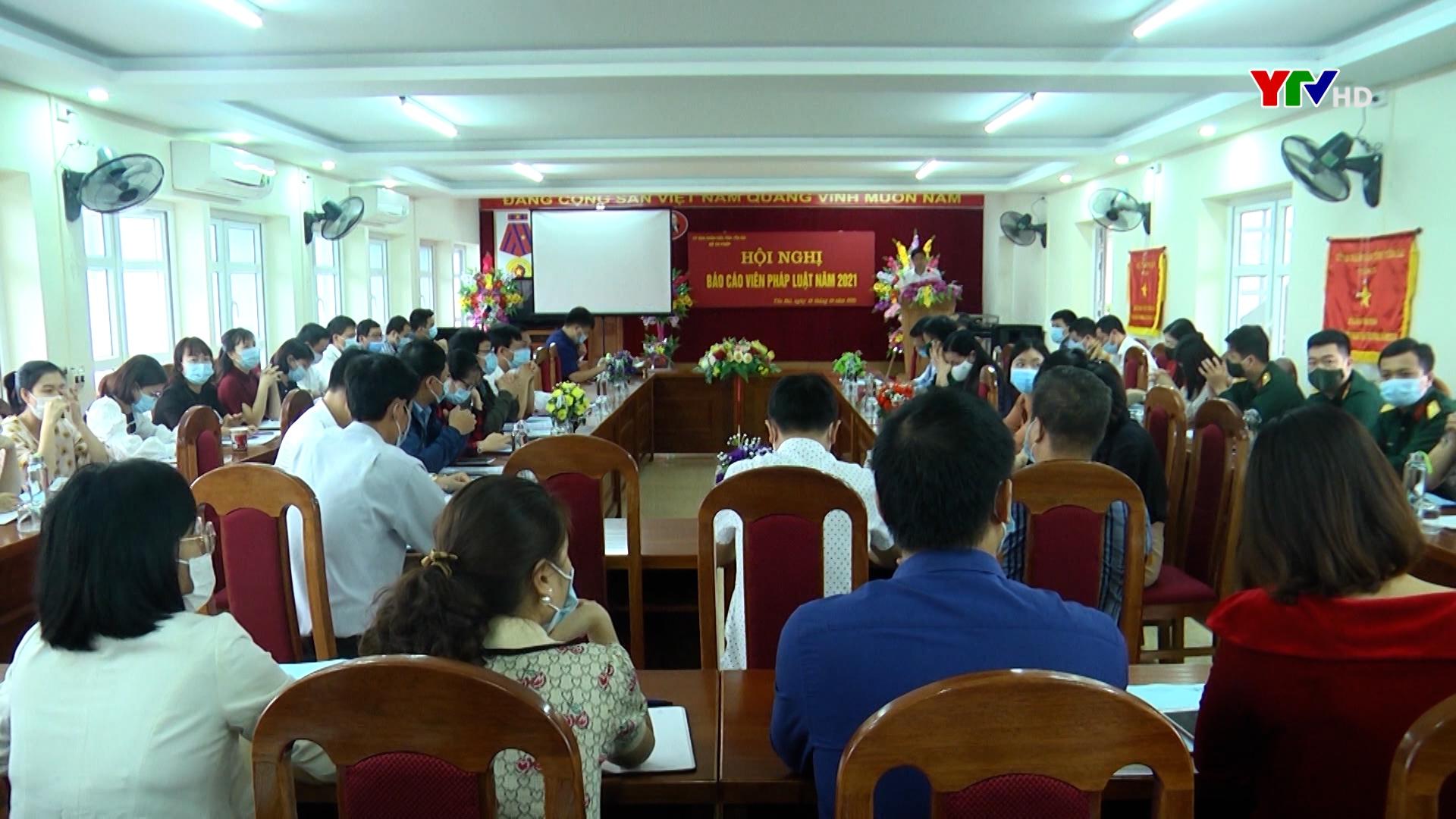 Hội nghị báo cáo viên pháp luật năm 2021