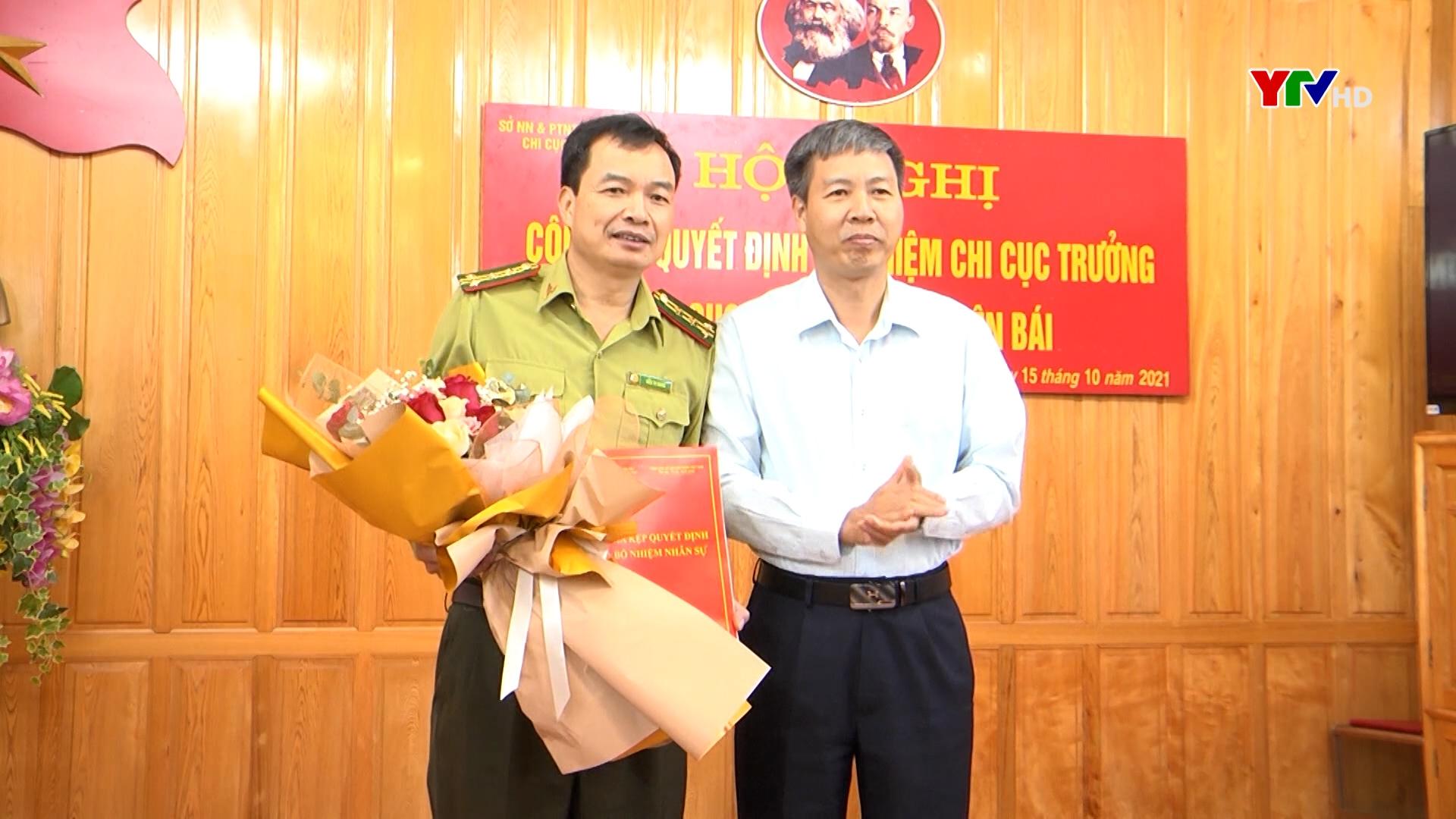 Đồng chí Kiều Tư Giang được bổ nhiệm giữ chức Chi cục trưởng Chi cục Kiểm lâm tỉnh Yên Bái