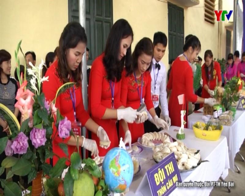 Hội thi bóc bưởi, trình bày bưởi tại huyện Yên Bình