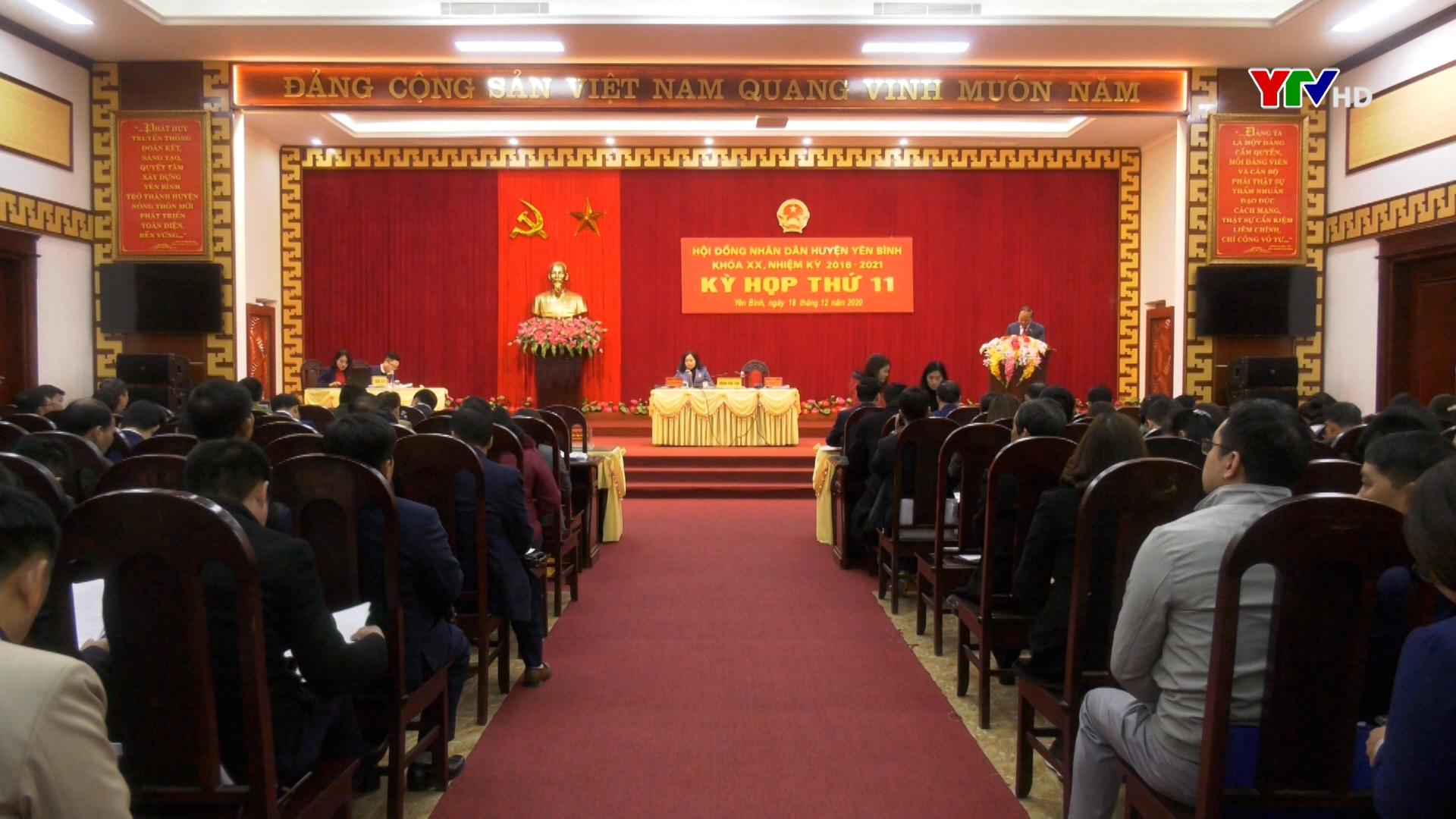Kỳ họp thứ 11 - HĐND huyện Yên Bình khóa XX