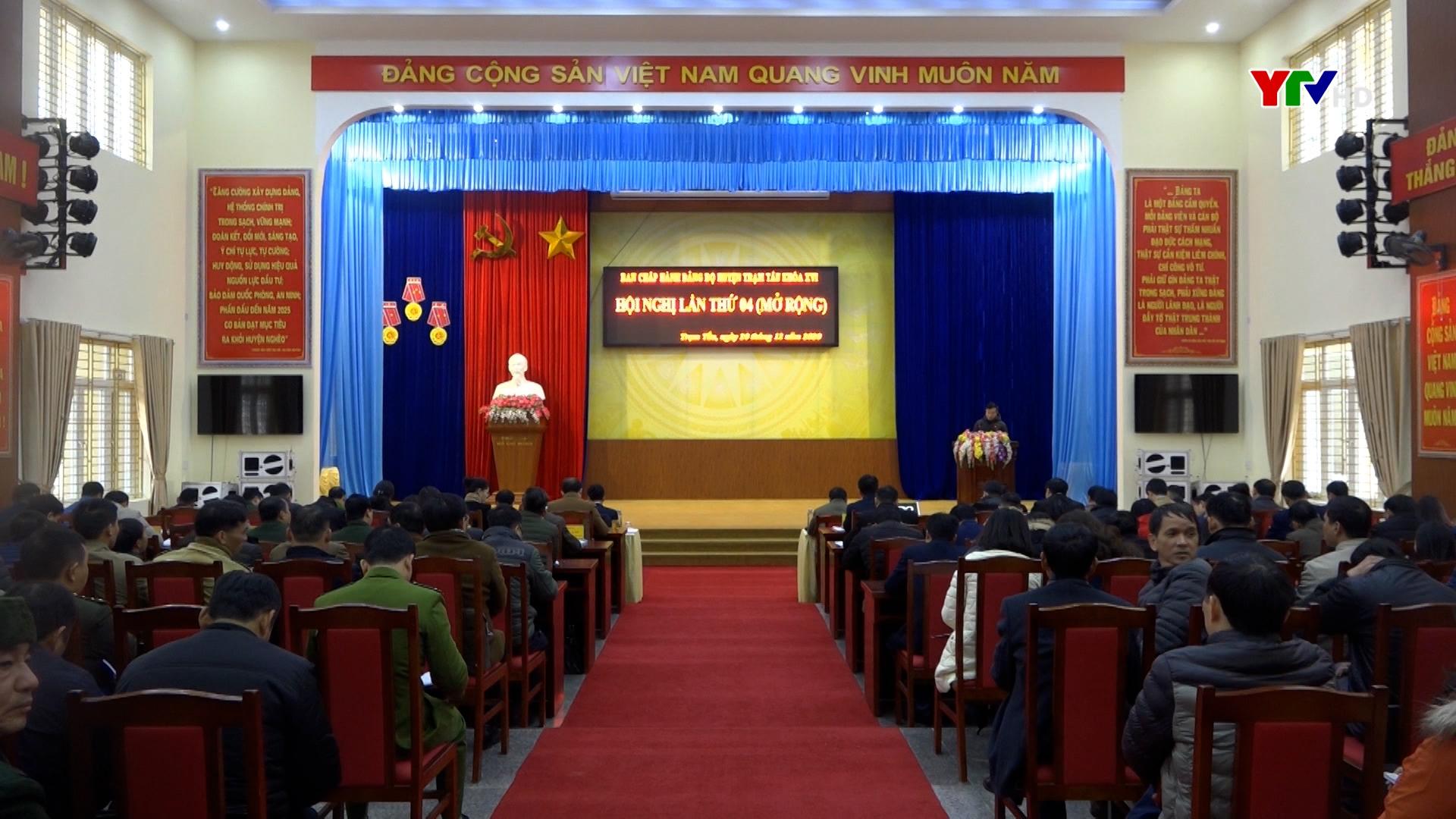 Hội nghị lần thứ 4 - BCH Đảng bộ huyện Trạm Tấu khóa XVI